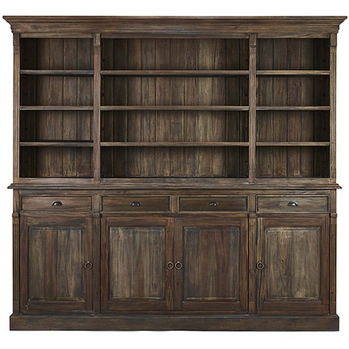 Entertainment Display Cabinet Bookcase Cocoa