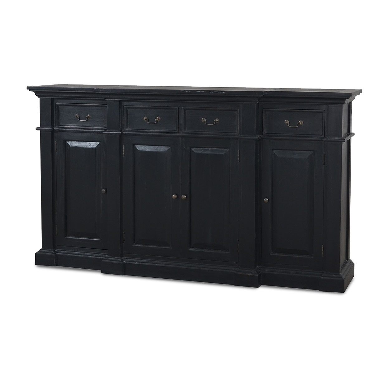 Stepped Front Buffet Black Distressed