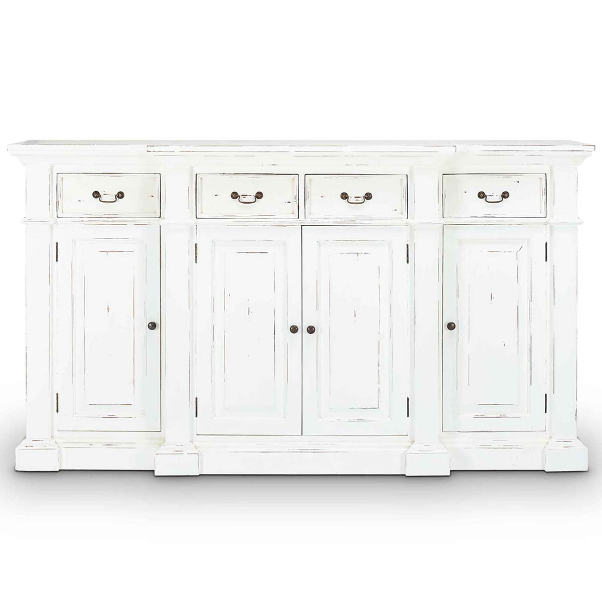 Stepped Front Buffet White Distressed