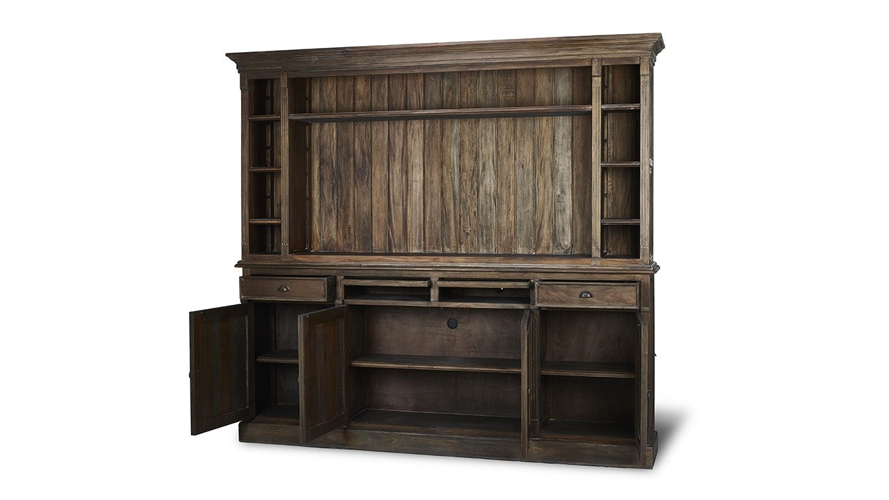 Hutson Open Media Open TV Entertainment Display Cabinet Cocoa - Furniture on Main