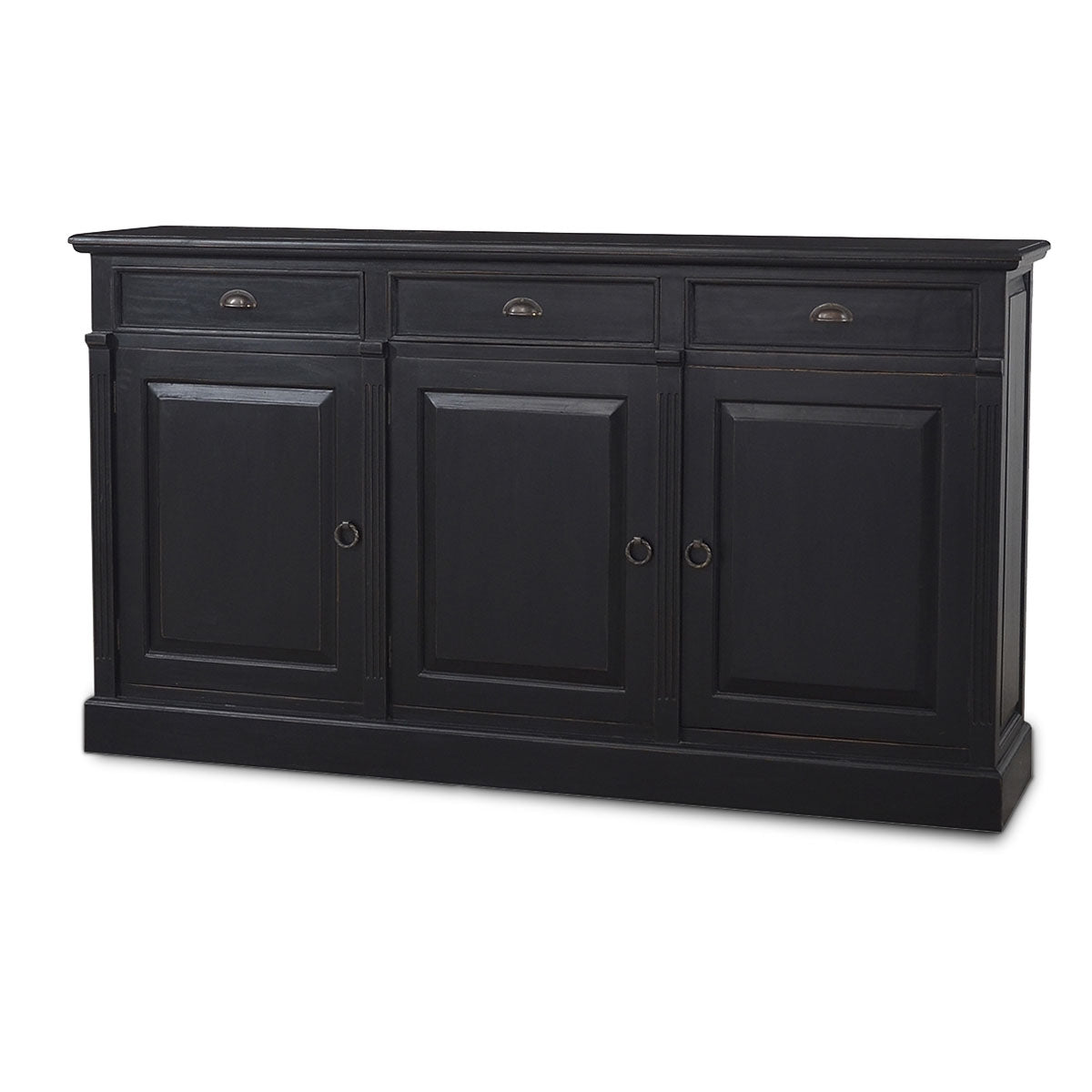 Cottage 3 Door Sideboard Buffet Black