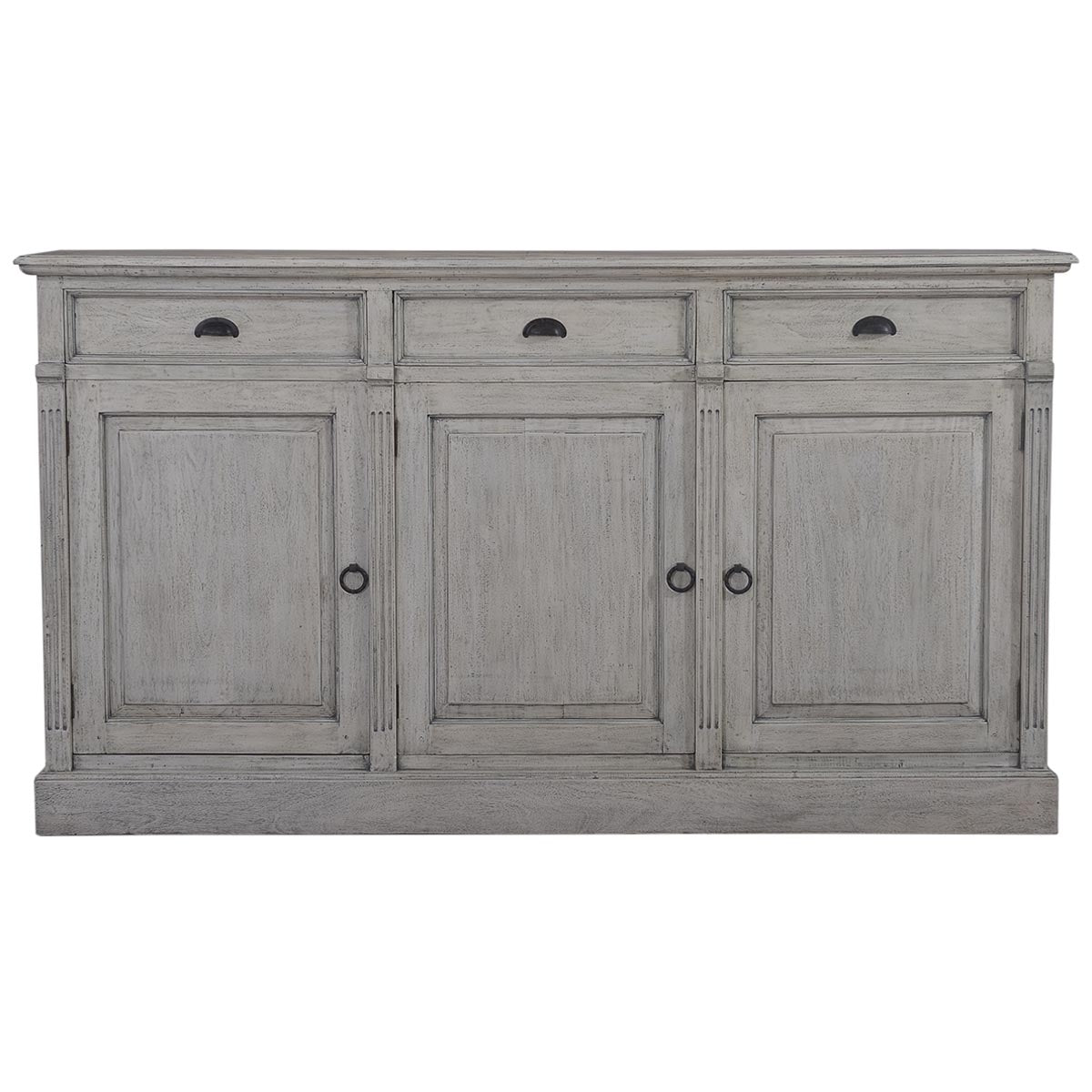Cottage 3 Door Sideboard Buffet Grey