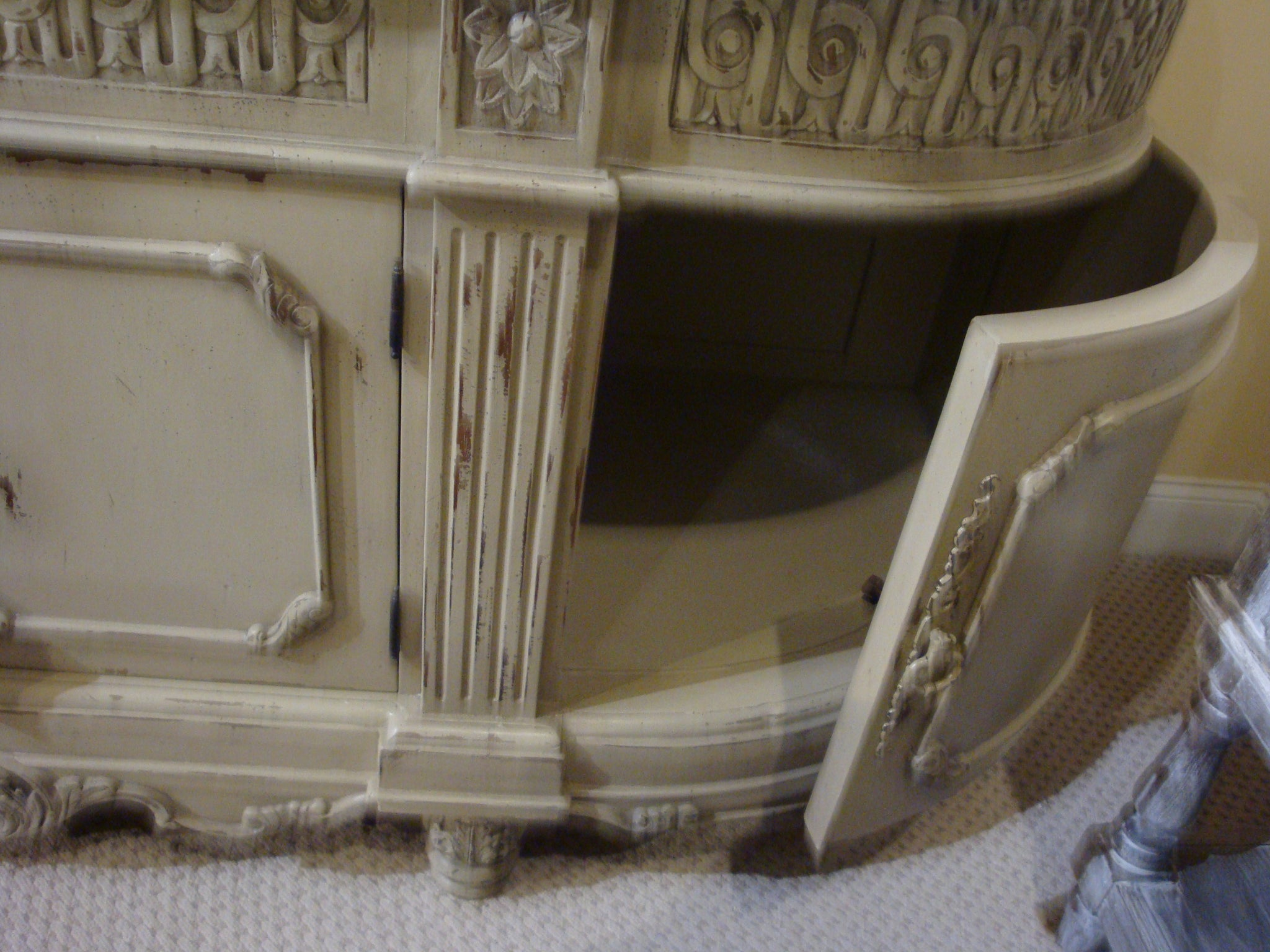 Parchment Double Carved Vanity Marble Top - Furniture on Main