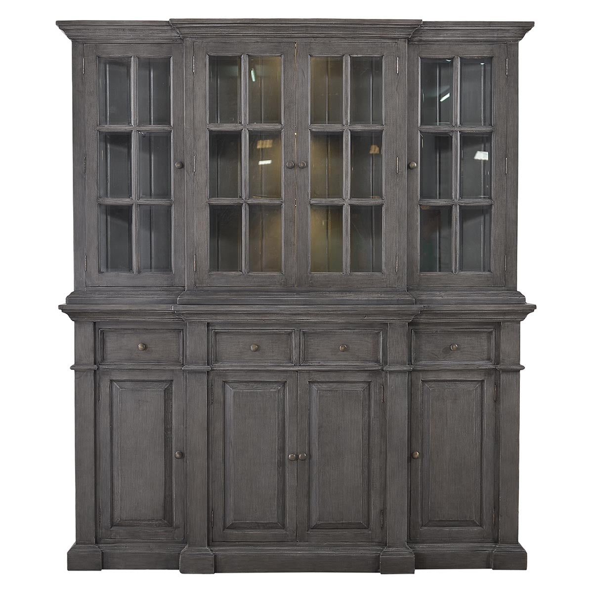 Farmhouse Buffet with Hutch Slate Distressed