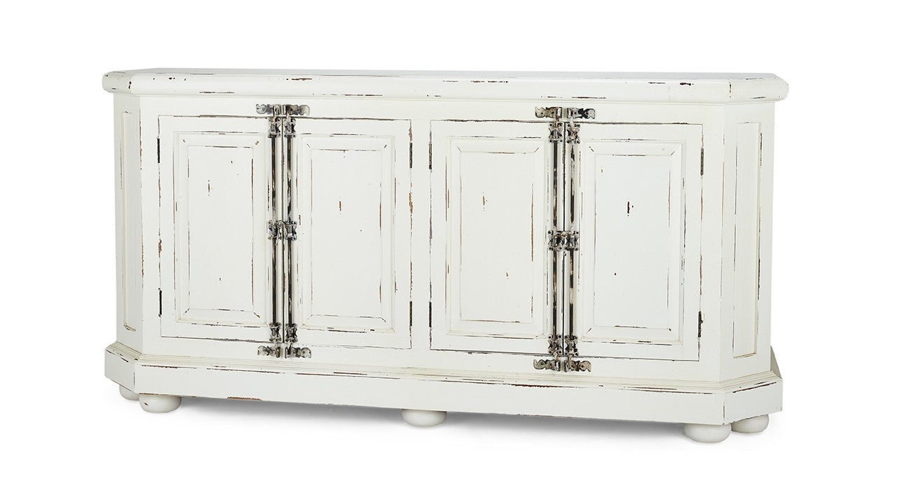 Banks Sideboard Buffet White Distressed - Furniture on Main