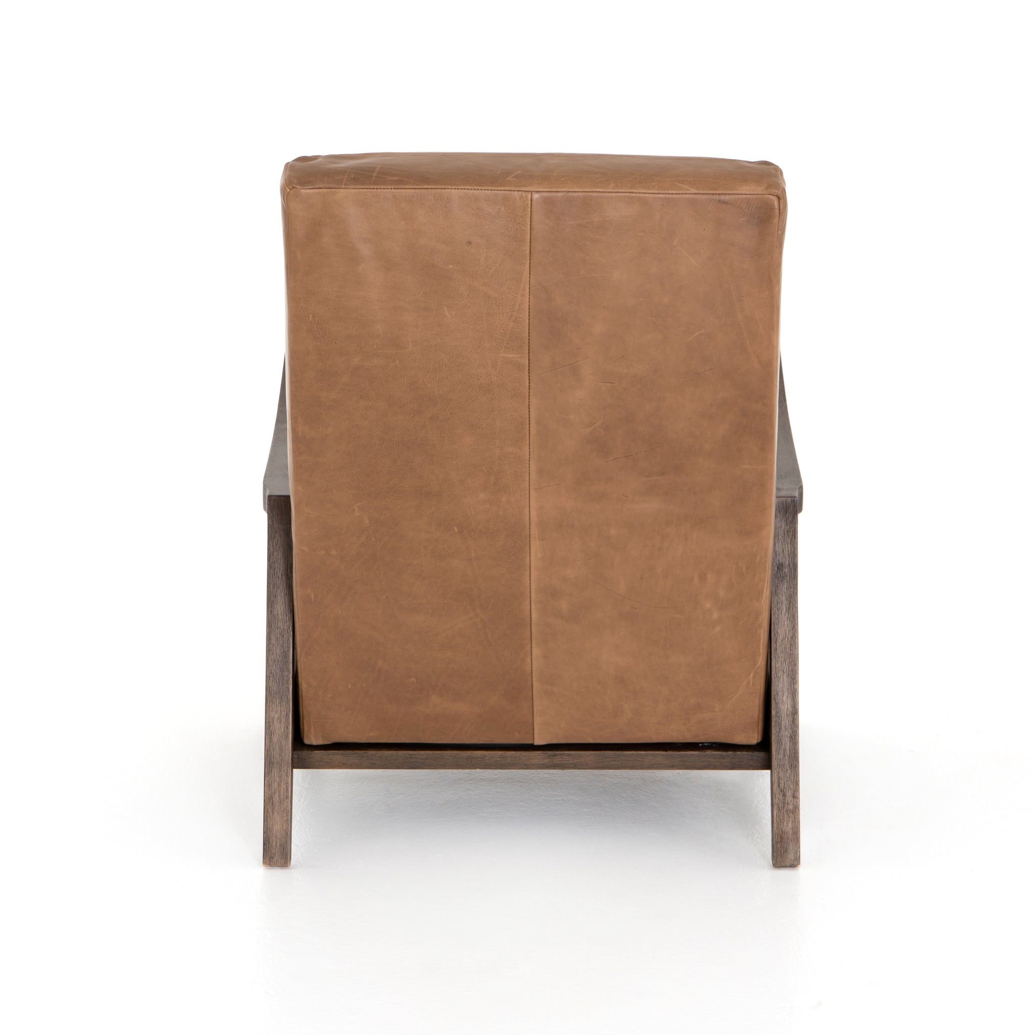 Modern Top Grain Leather Recliner Camel