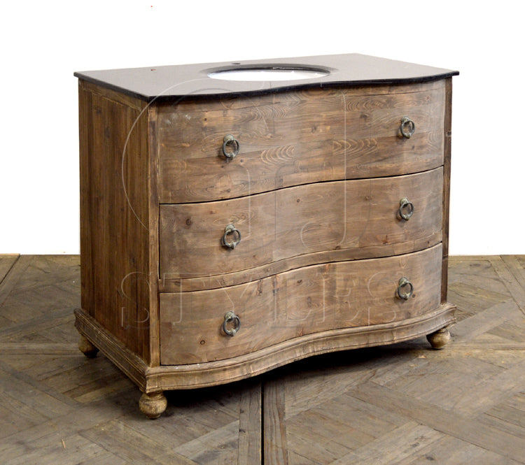 Bow Front Chest Single Vanity