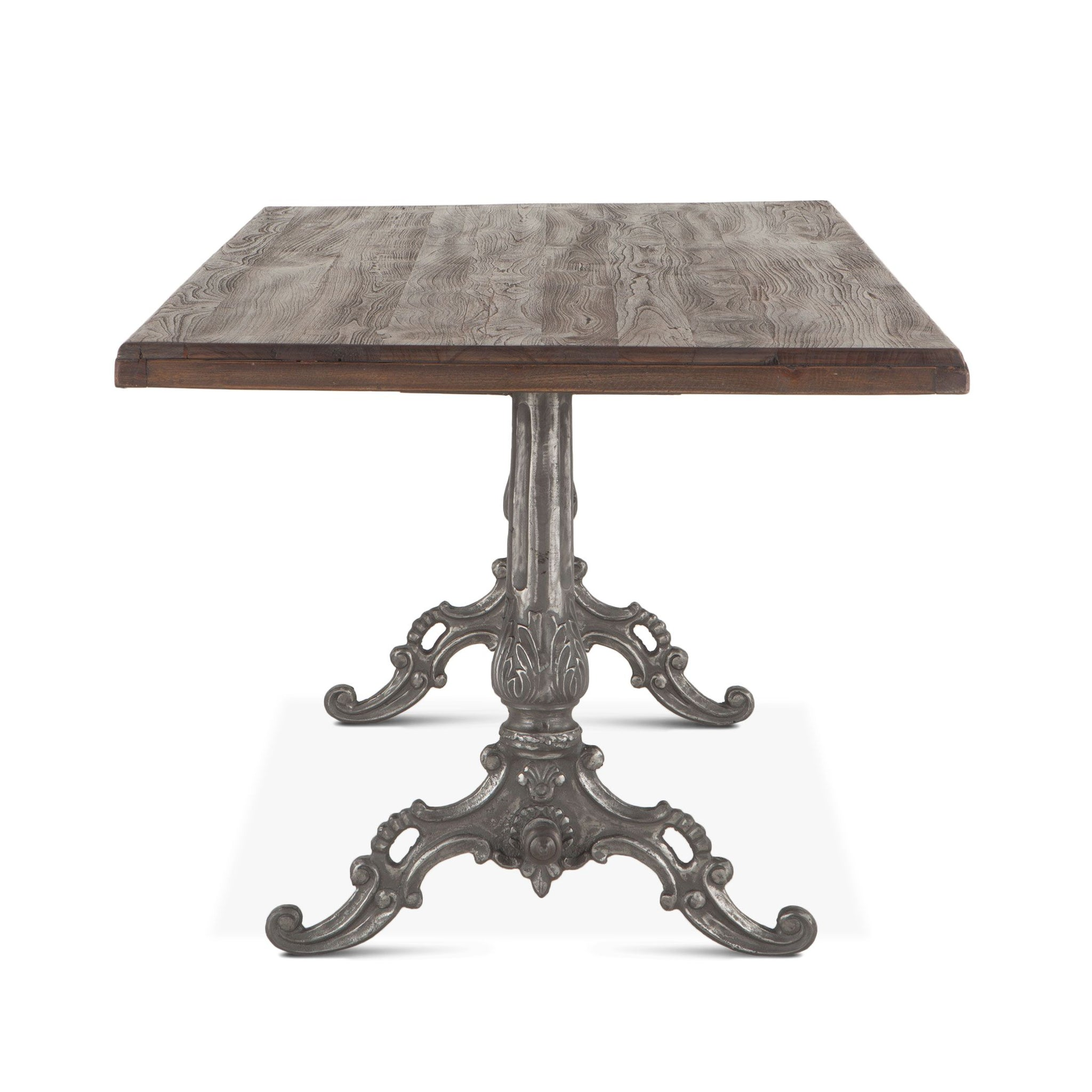 "76"" Market Cast Iron Base Dining Table"