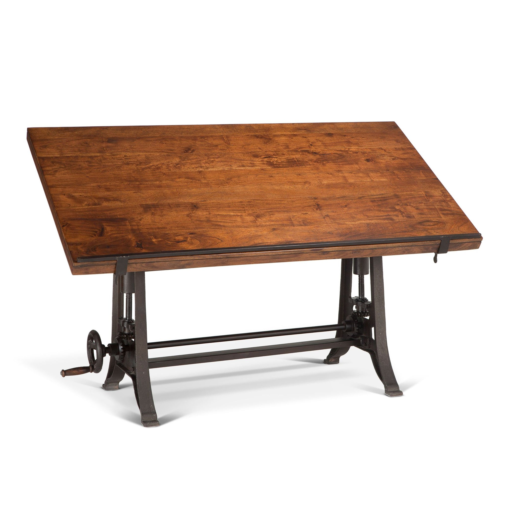 Drafting Rustic Industrial Iron Desk