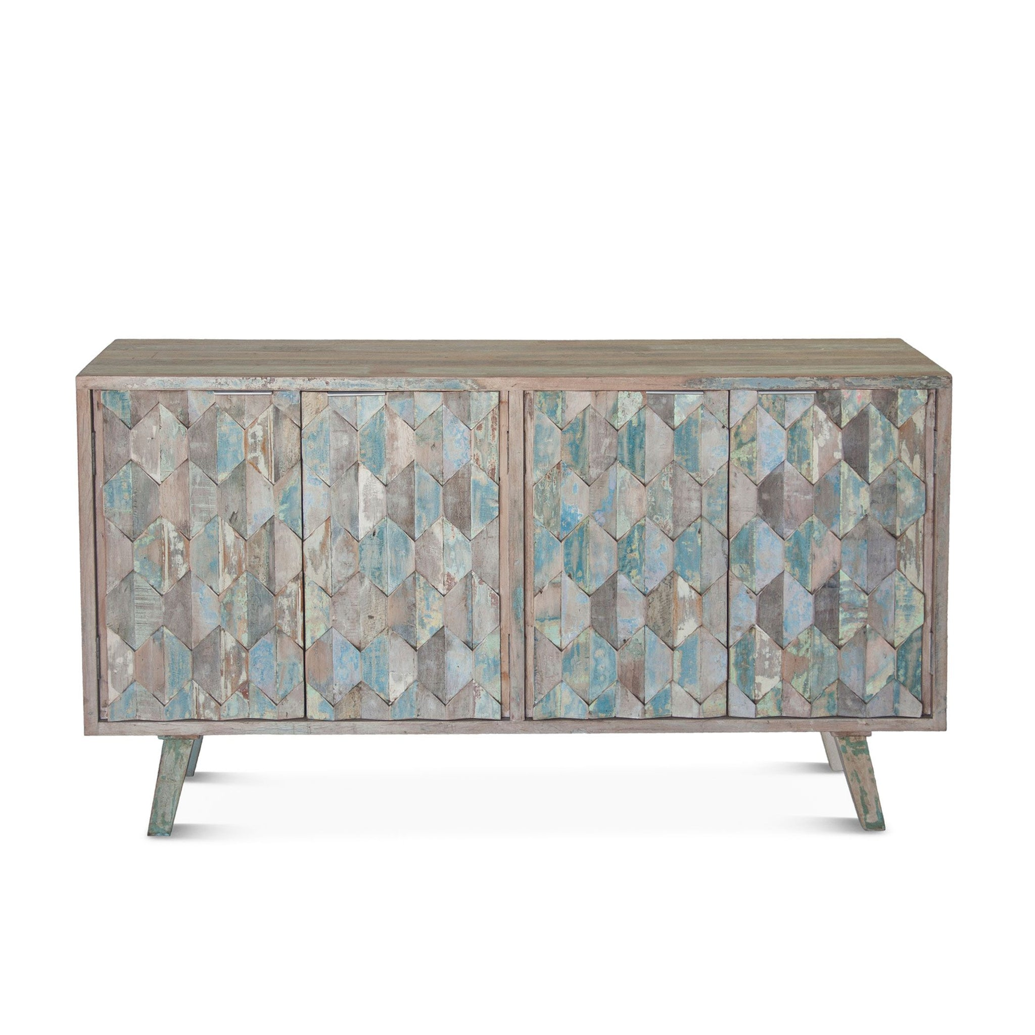 Reclaimed Vintage Teal Sideboard Buffet