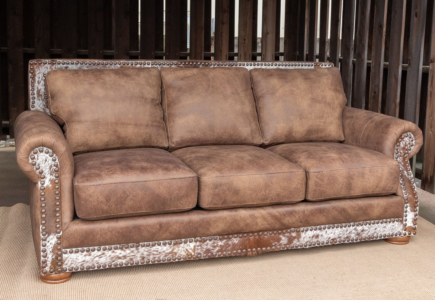 Western Leather Sofa Hair on Hide Stallone