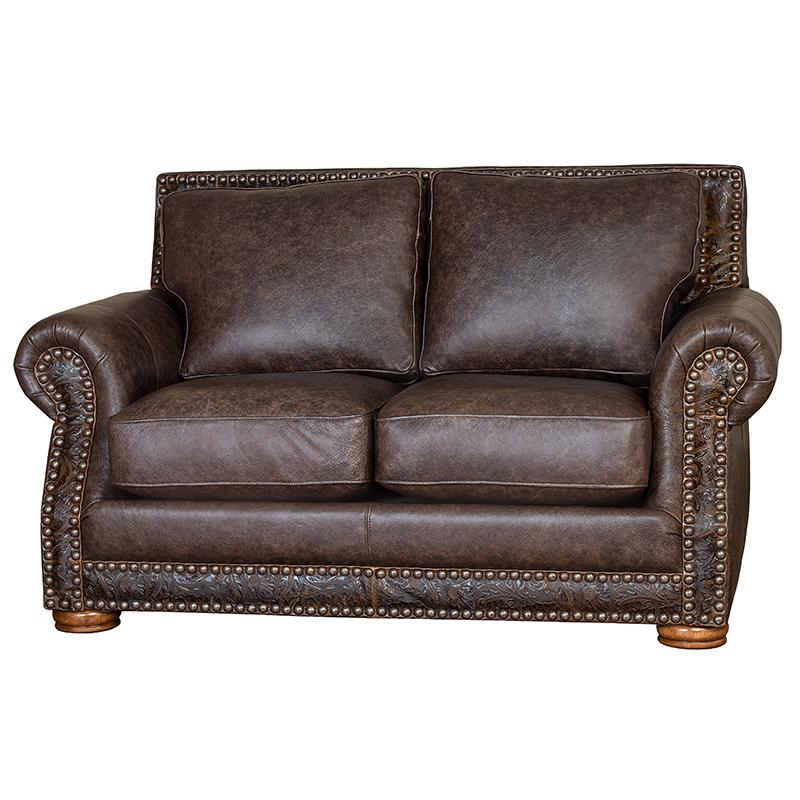 Hamilton Leather Loveseat Bandwagon & Cosmo