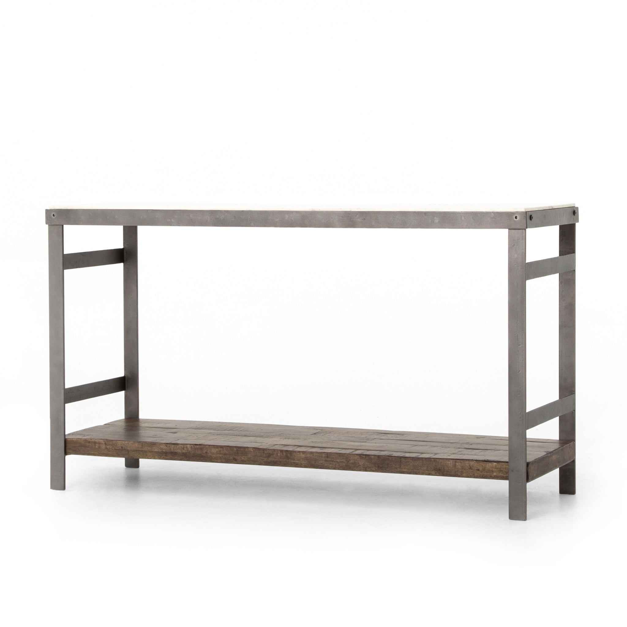 Marble Top and Iron Airy Console Table - Furniture on Main