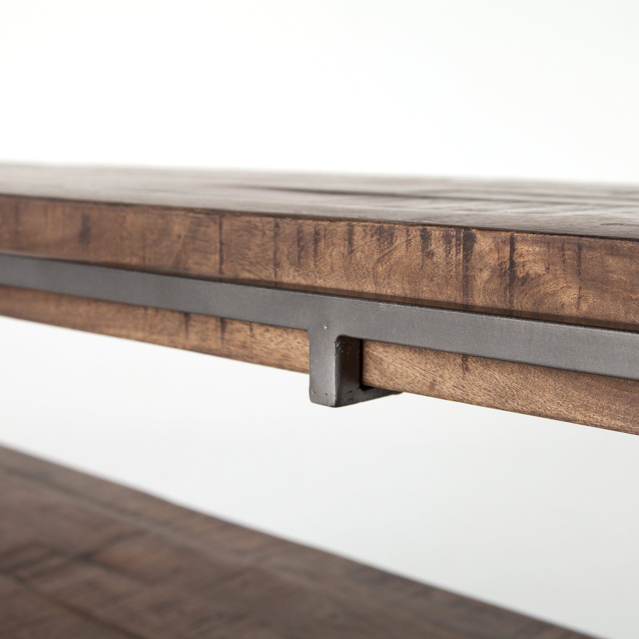 Weathered Hickory Wood Console Table - Furniture on Main