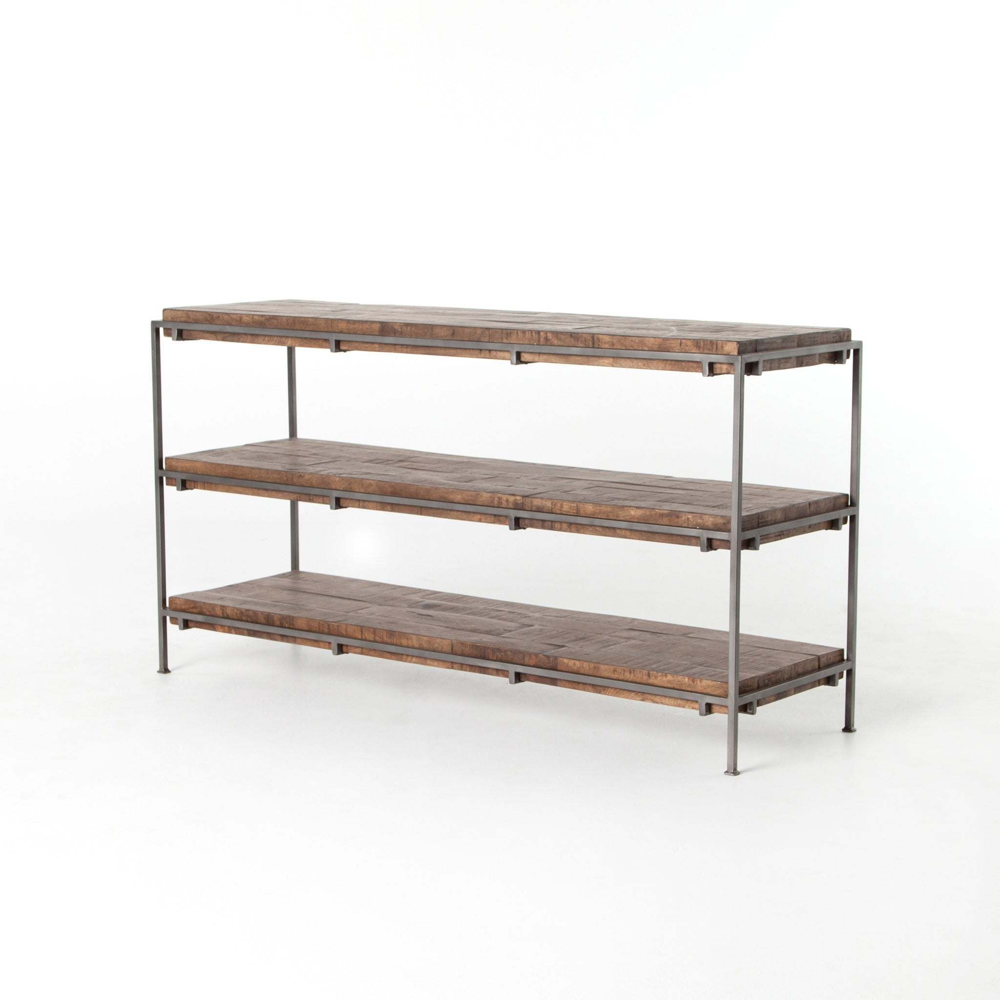 Weathered Hickory Wood Console Table