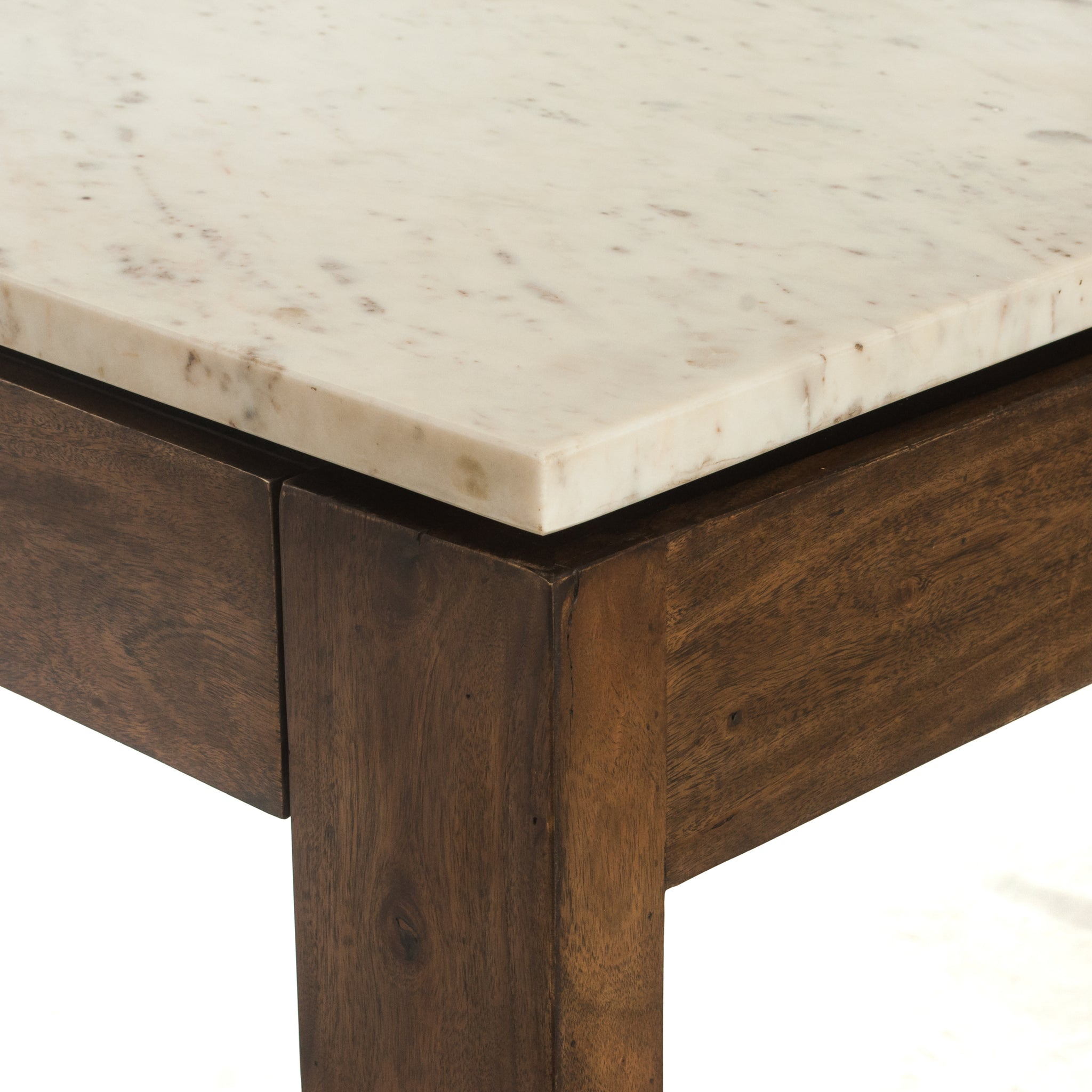 Counter Height Pub Dining Table Marble Top - Furniture on Main