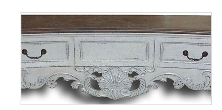 Old World Antiqued White Sideboard