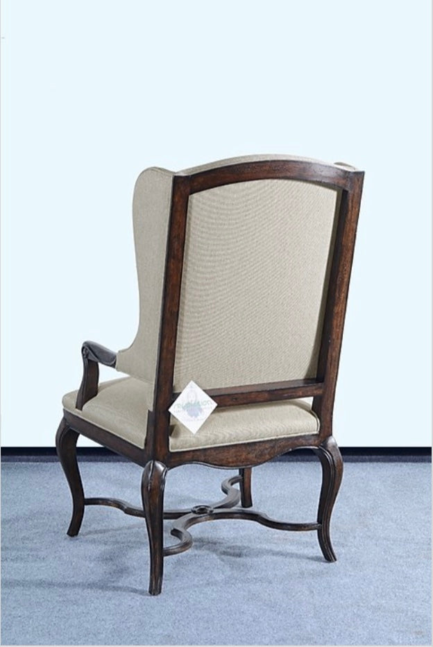 Carol Arm Chair Cabriole Legs in Rustic Pecan