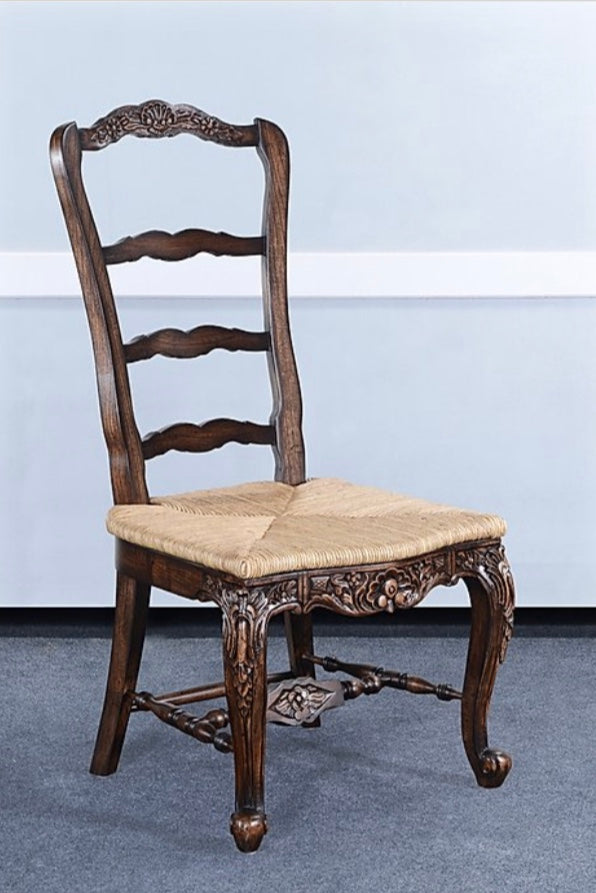 Farmhouse Tall Back Side Chair Walnut Finish Set of 4
