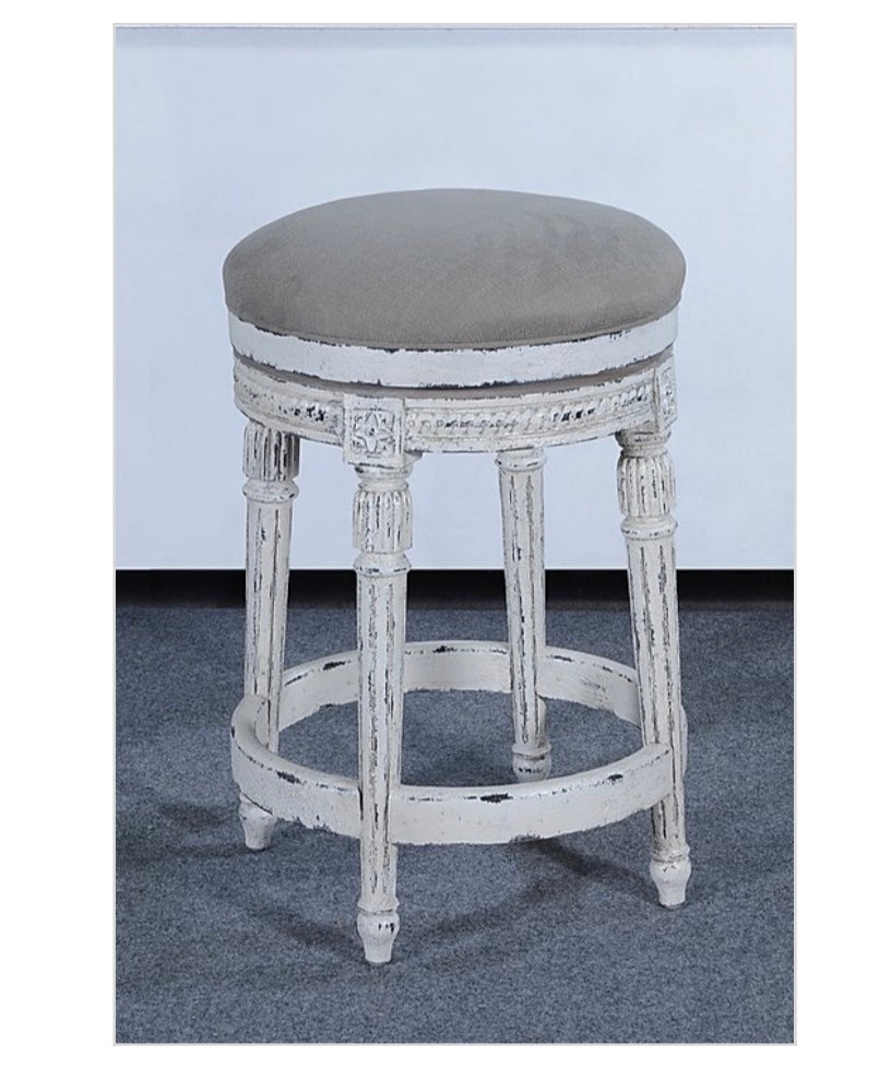 Louis XVI Counter Height Barstool Set of 3