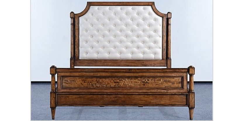 Button Tufted Upholstered Classic King Bed