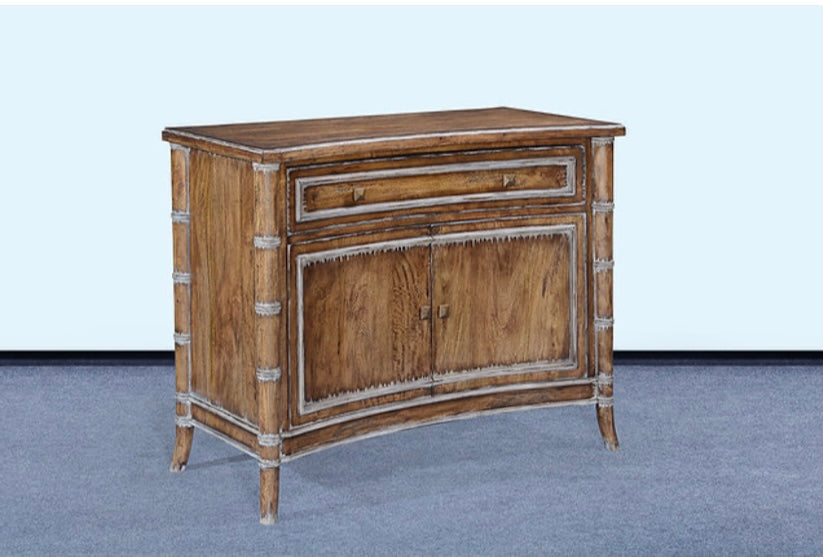Bamboo Accented Chest Rustic Pecan
