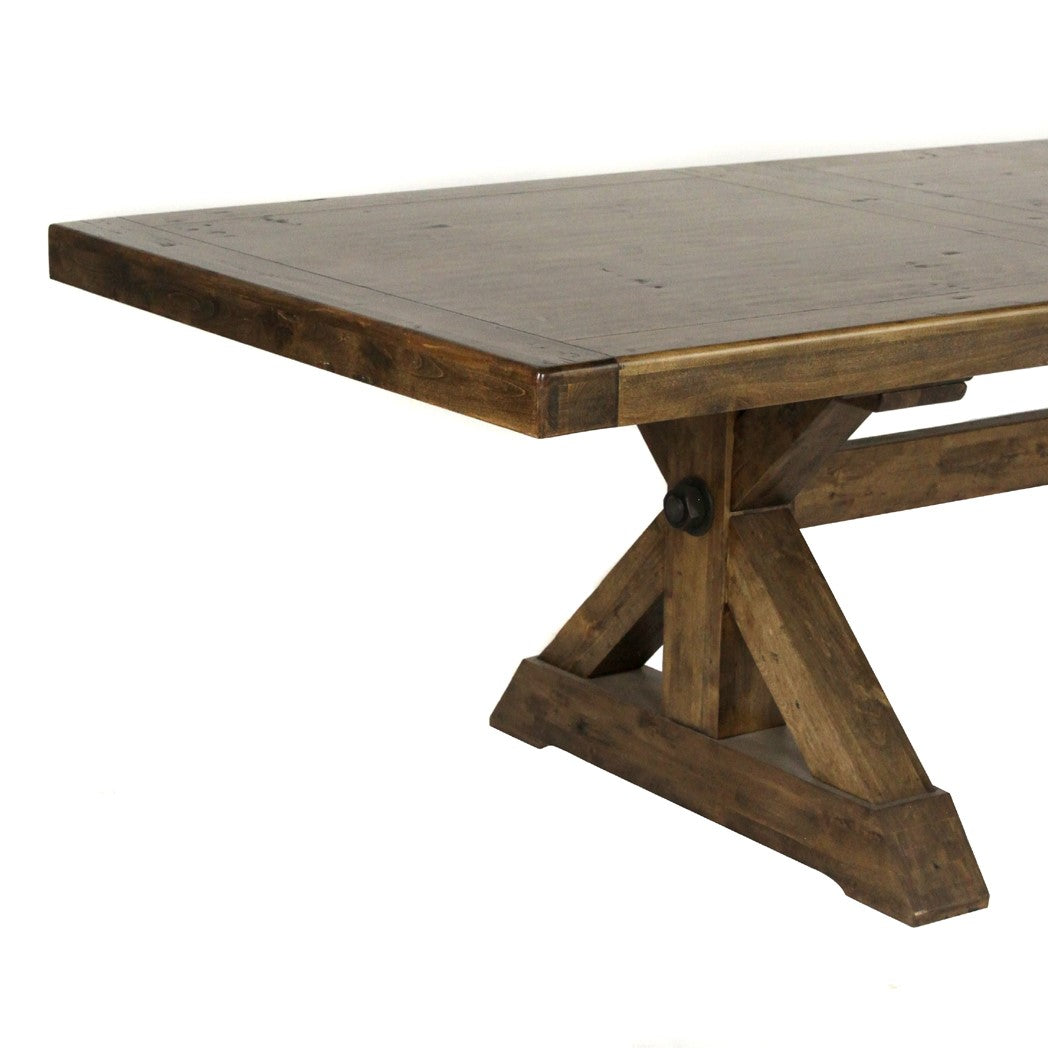 "Durango Pecan Finish Dining Table  88"" - 110"""