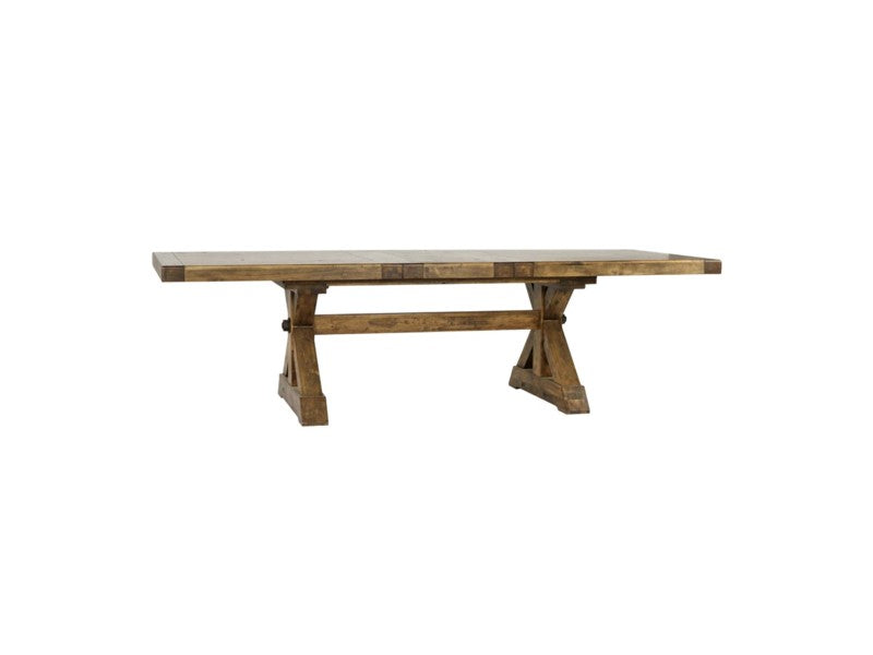 "Durango Pecan Finish Dining Table  88"" - 110"" - Furniture on Main"