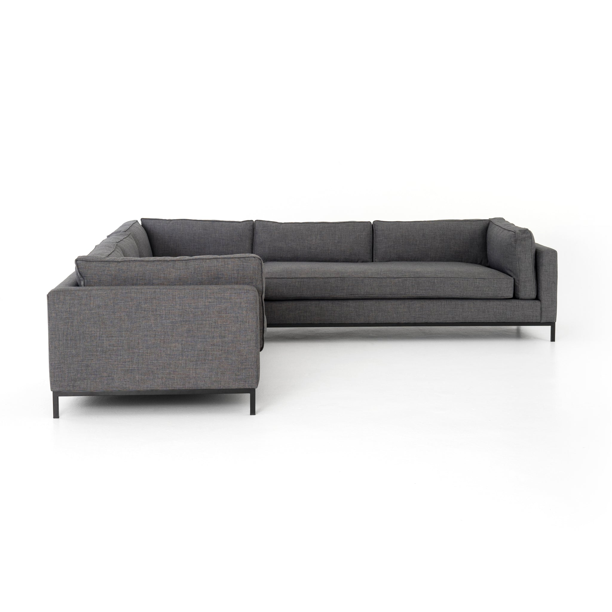 Charcoal Grey 3 pc. Sectional Modern