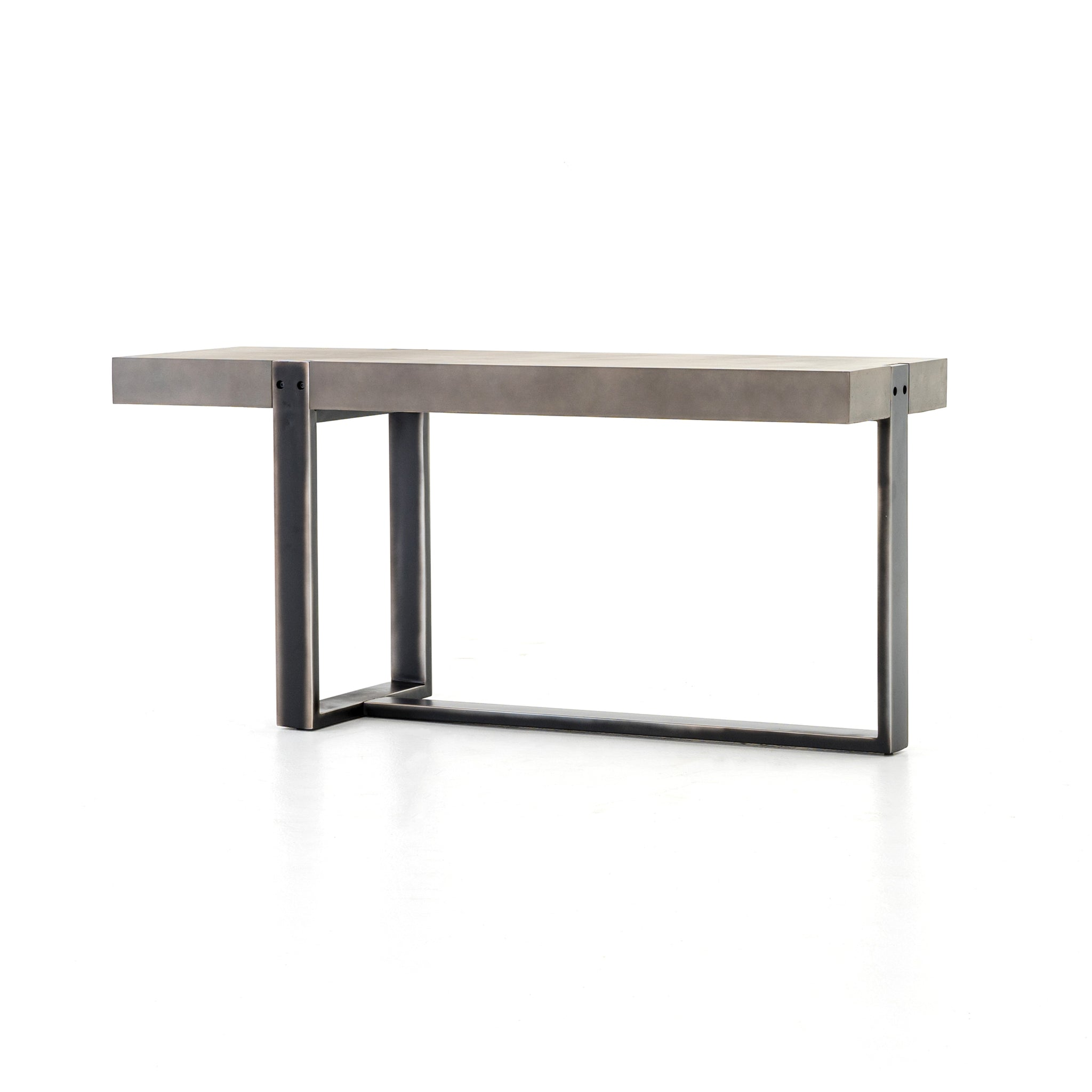 Concrete Top Iron Base Console Table - Furniture on Main