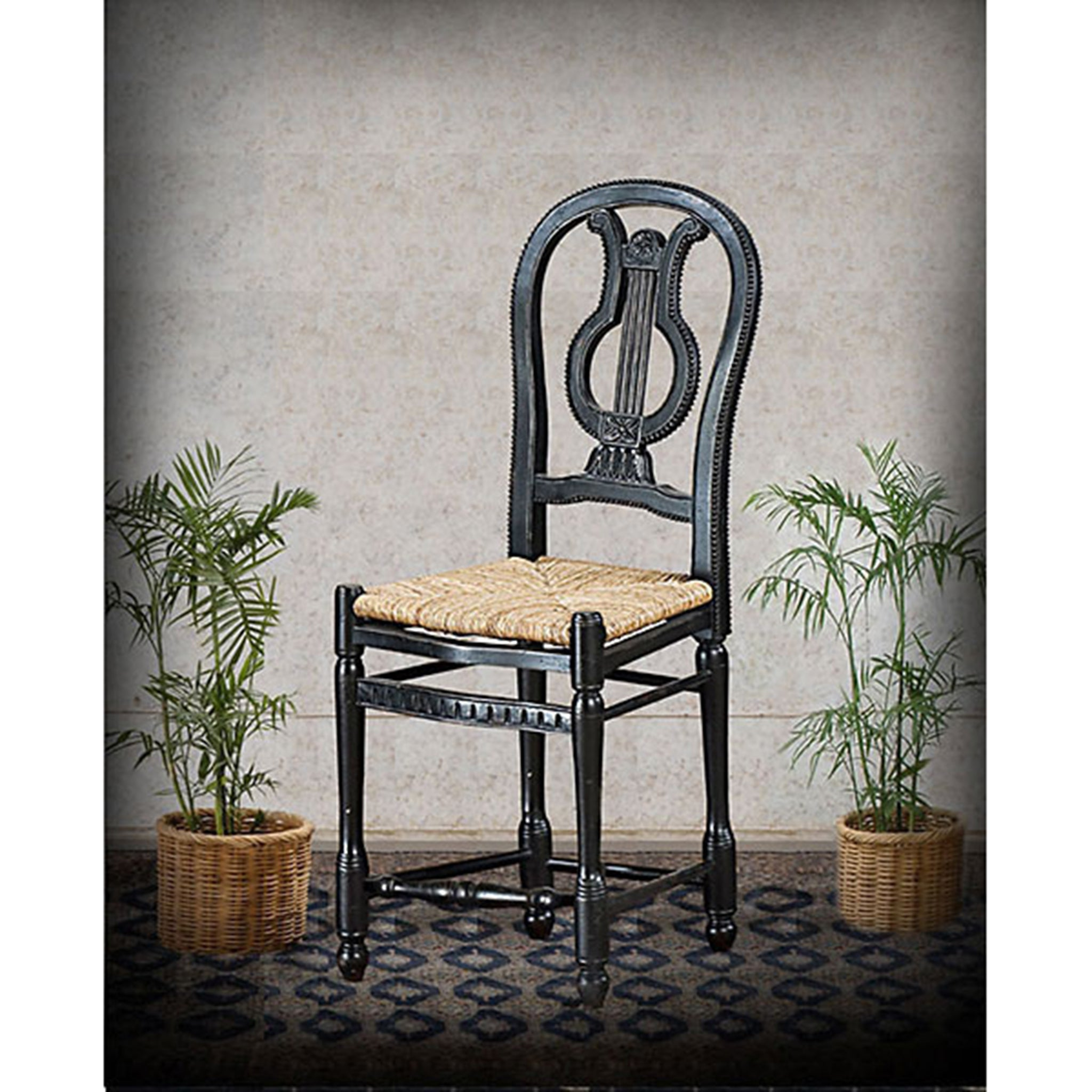 Angelia Counter Height Barstool Black Distressed Set of 2