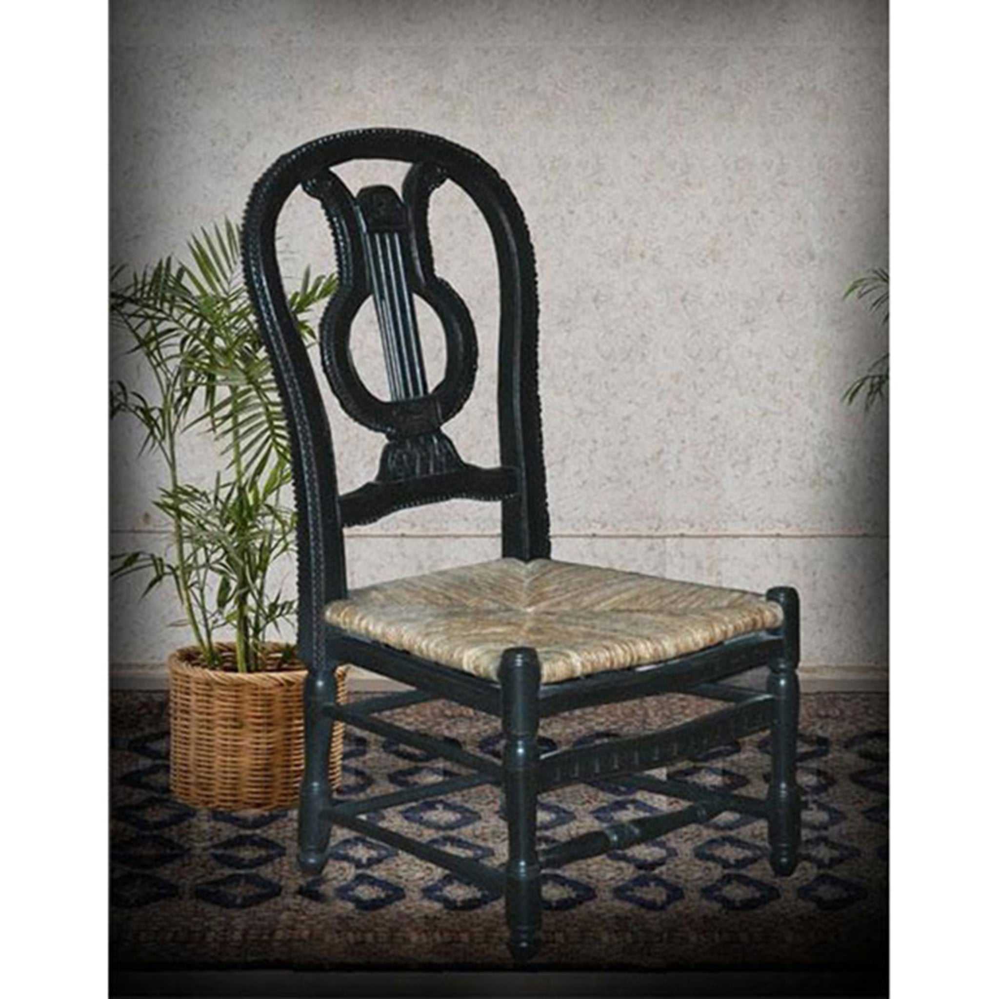 Angelia Side Chair Black Set of 4 - Furniture on Main