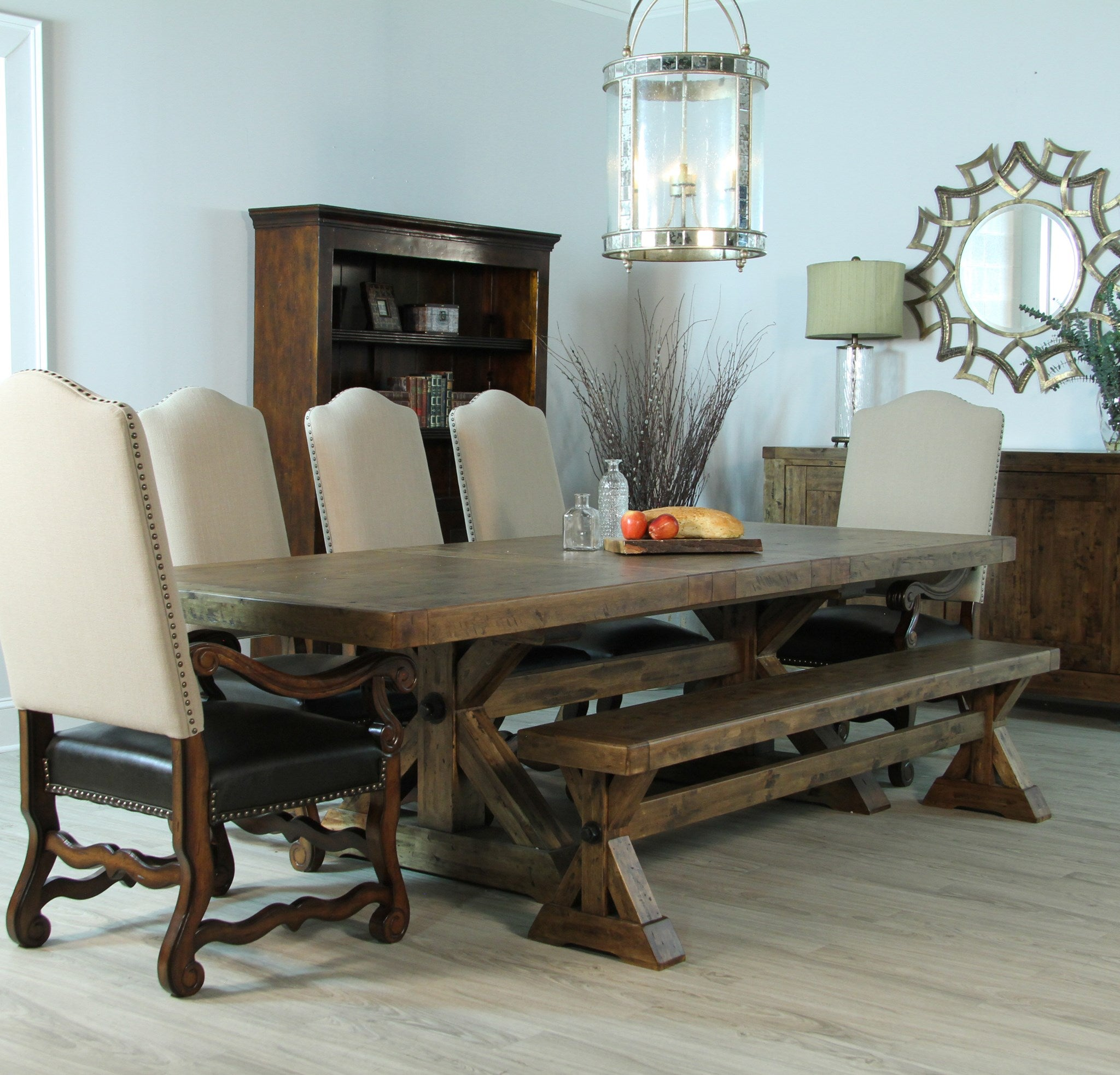 Aspen Pecan Finish Dining Table