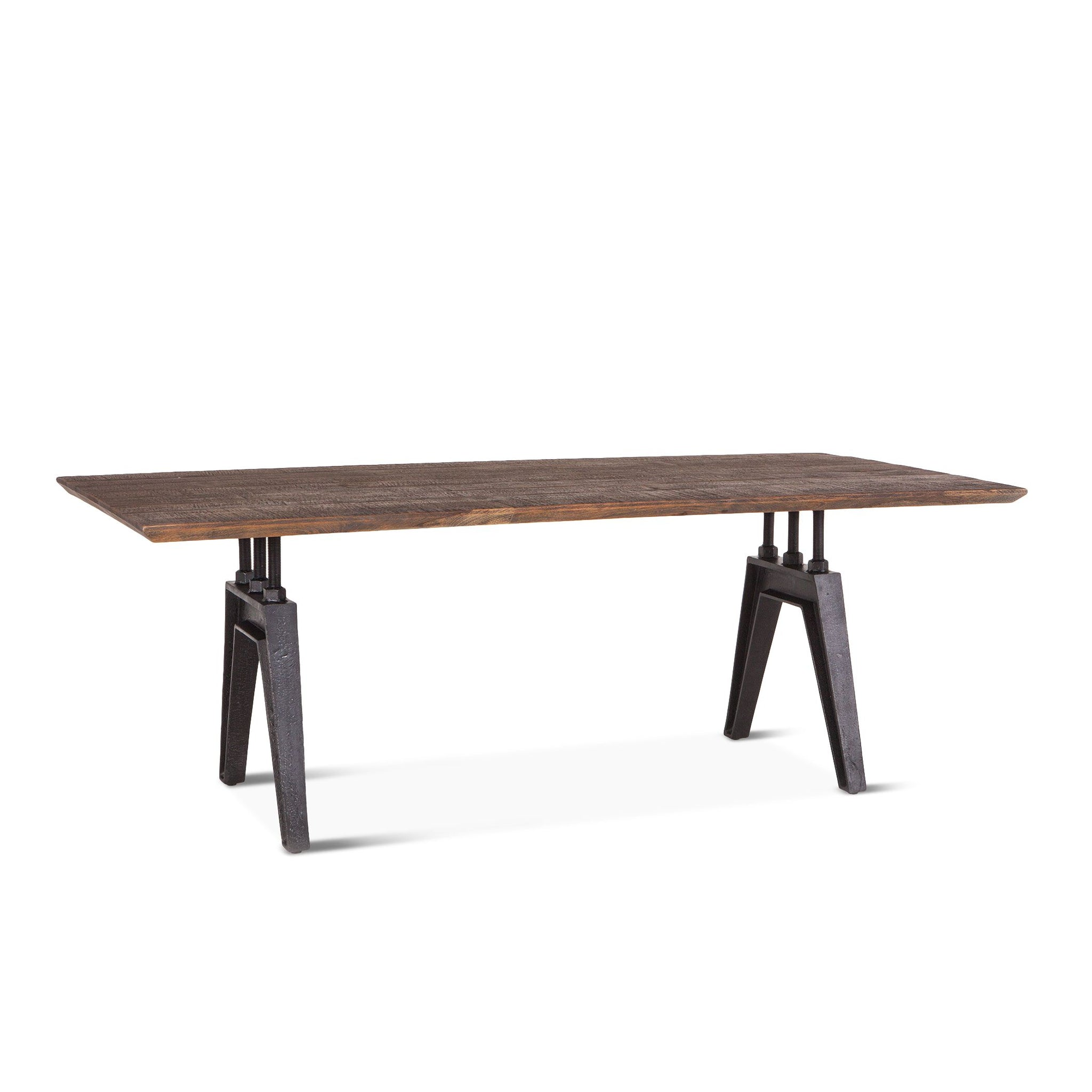 "84"" Rustic Dining Table Industrial Iron Table/Desk Rectangular Dining Table - Furniture on Main"