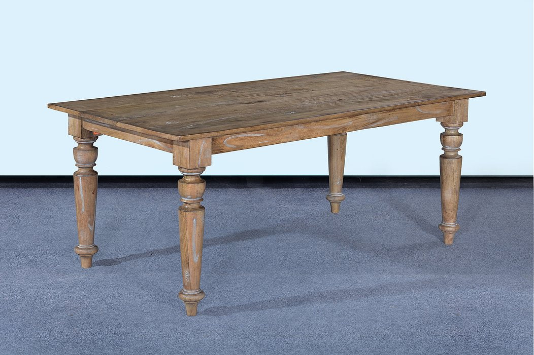"72"" Farmhouse Dining Table Beachwood Finish"