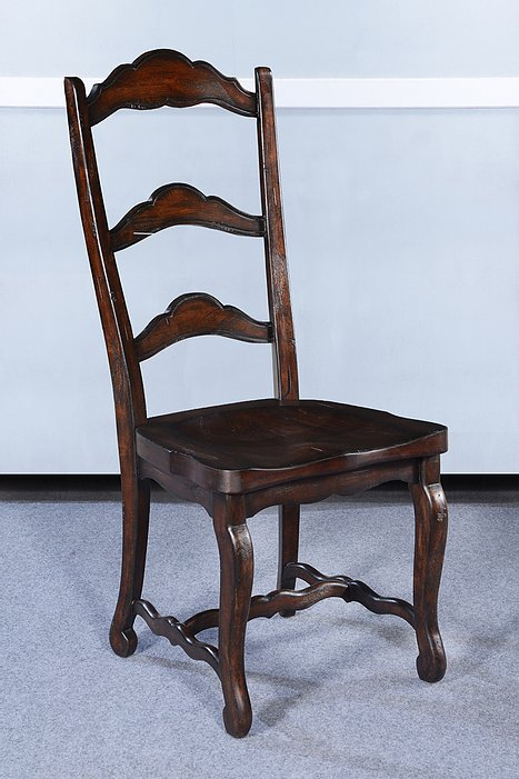 Rustic Farmhouse Dark Rustic Pecan Side Chair Set of 6