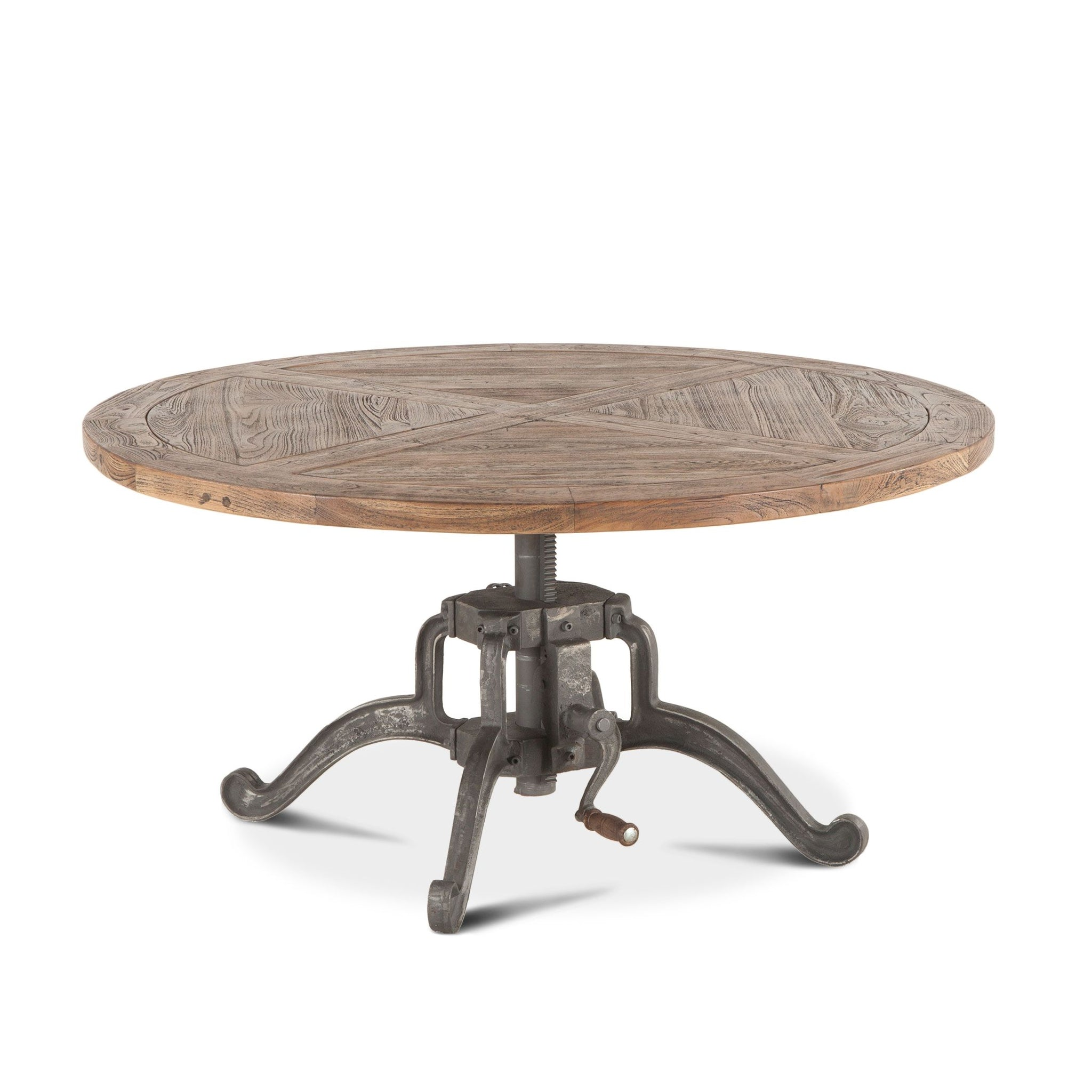 Picture of: Adjustable Height 42 Round Coffee Table Industrial Furniture On Main