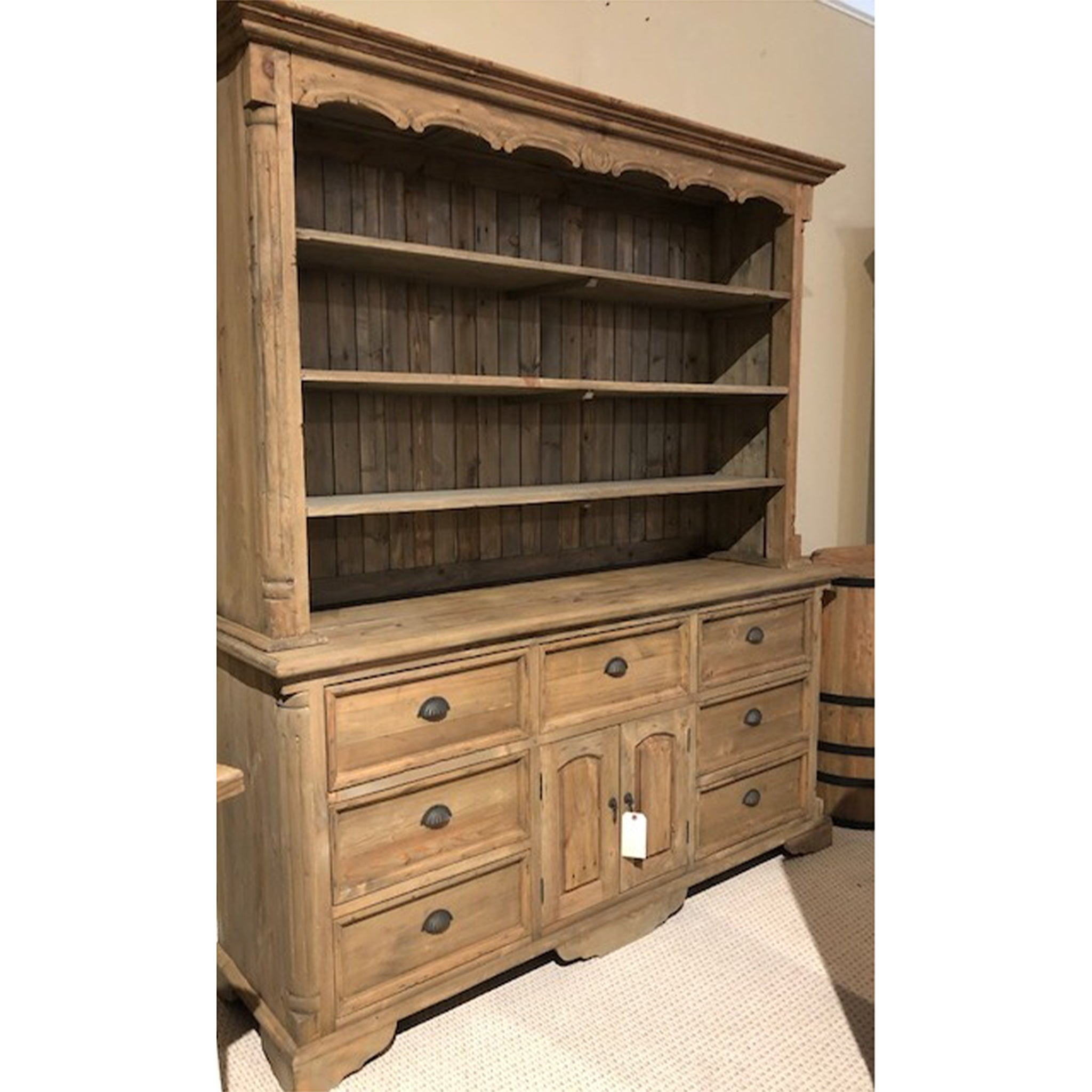 Farmhouse Buffet and Hutch Natural - Furniture on Main