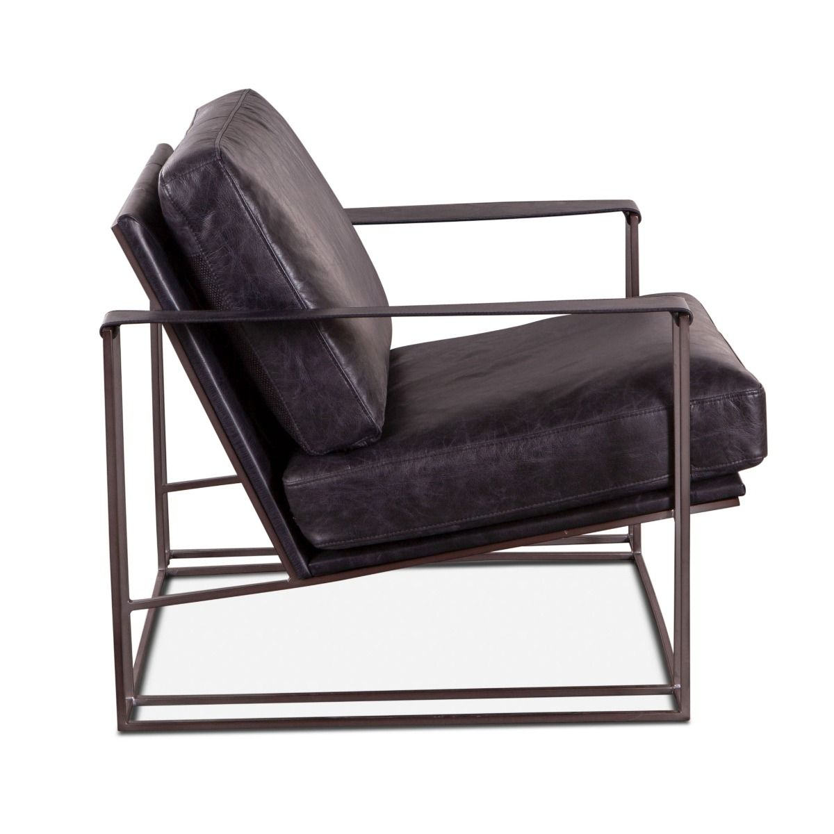 Modern Industrial Leather Armchair