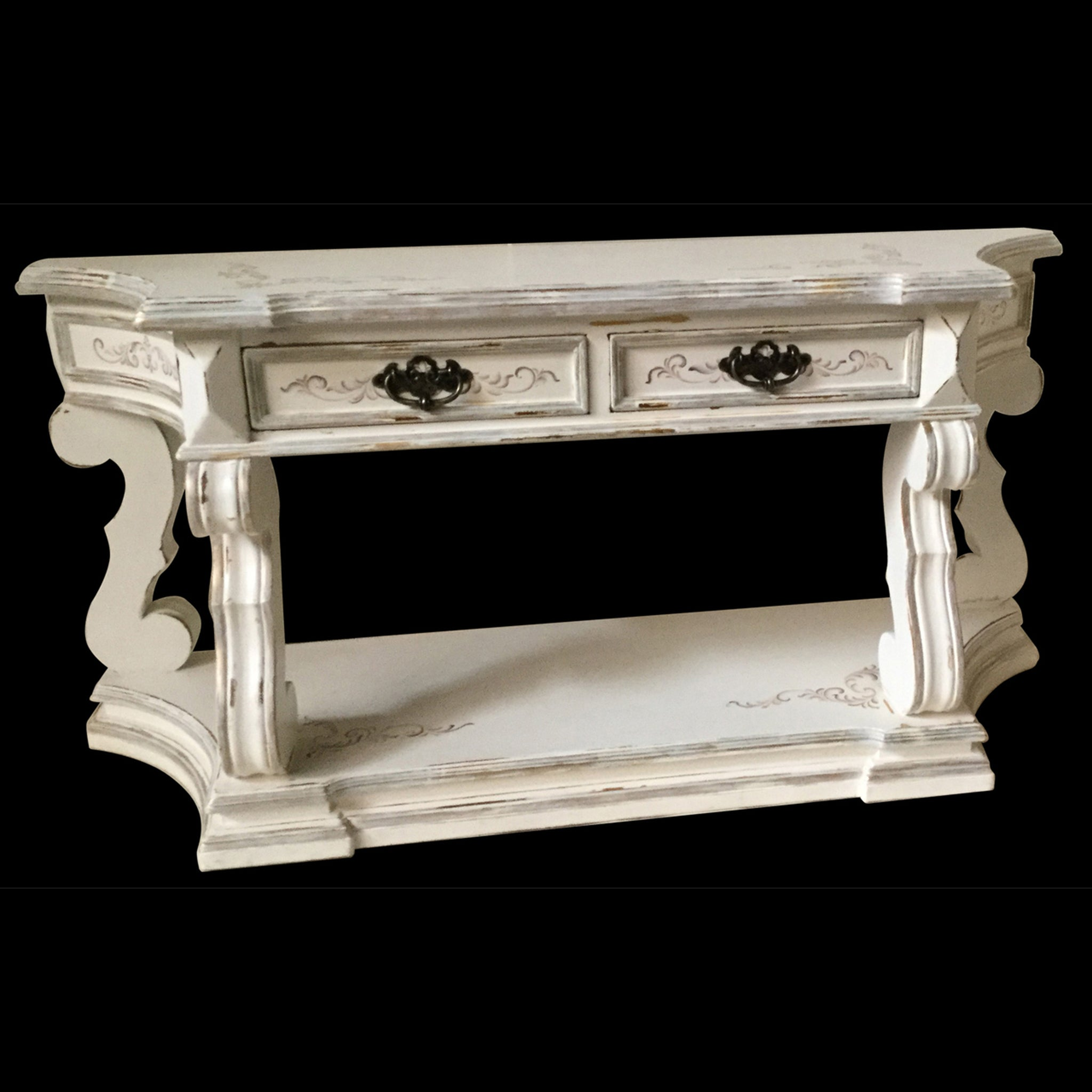 Grand Console Table - White - Furniture on Main