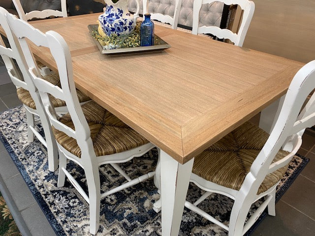 Farmhouse Dining Table White & Driftwood