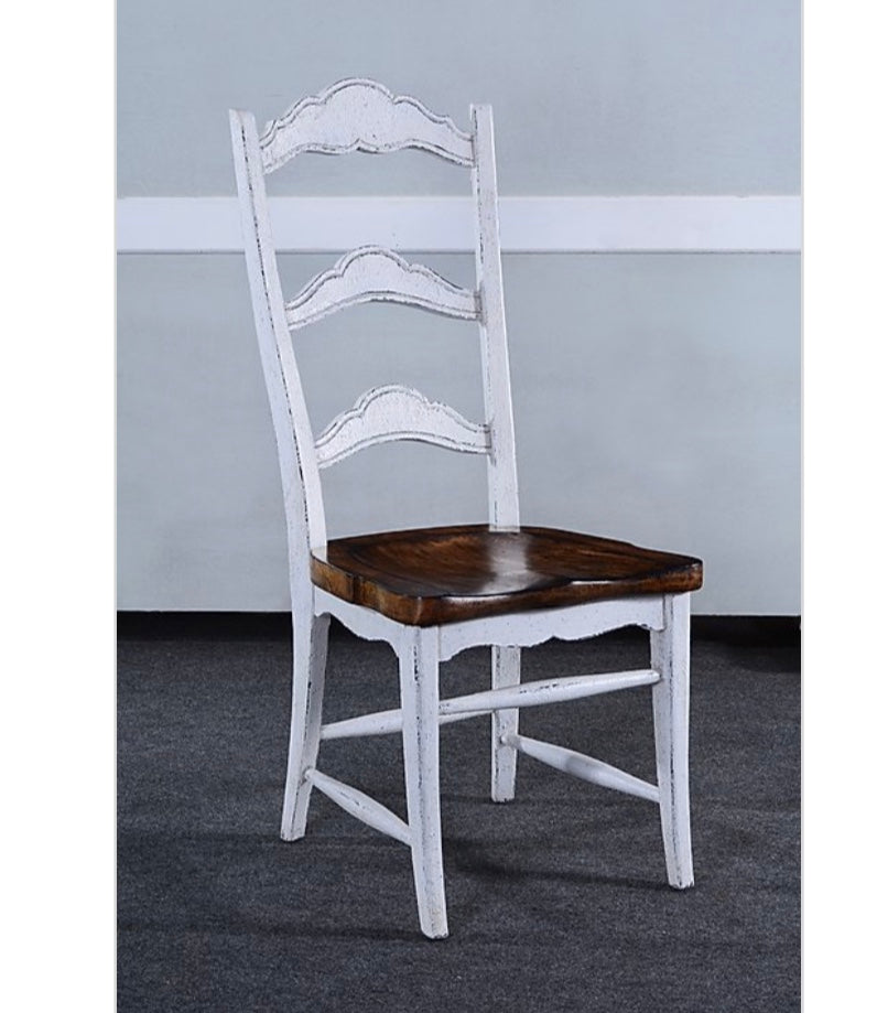 Rustic Farmhouse White Side Chair Set of 4