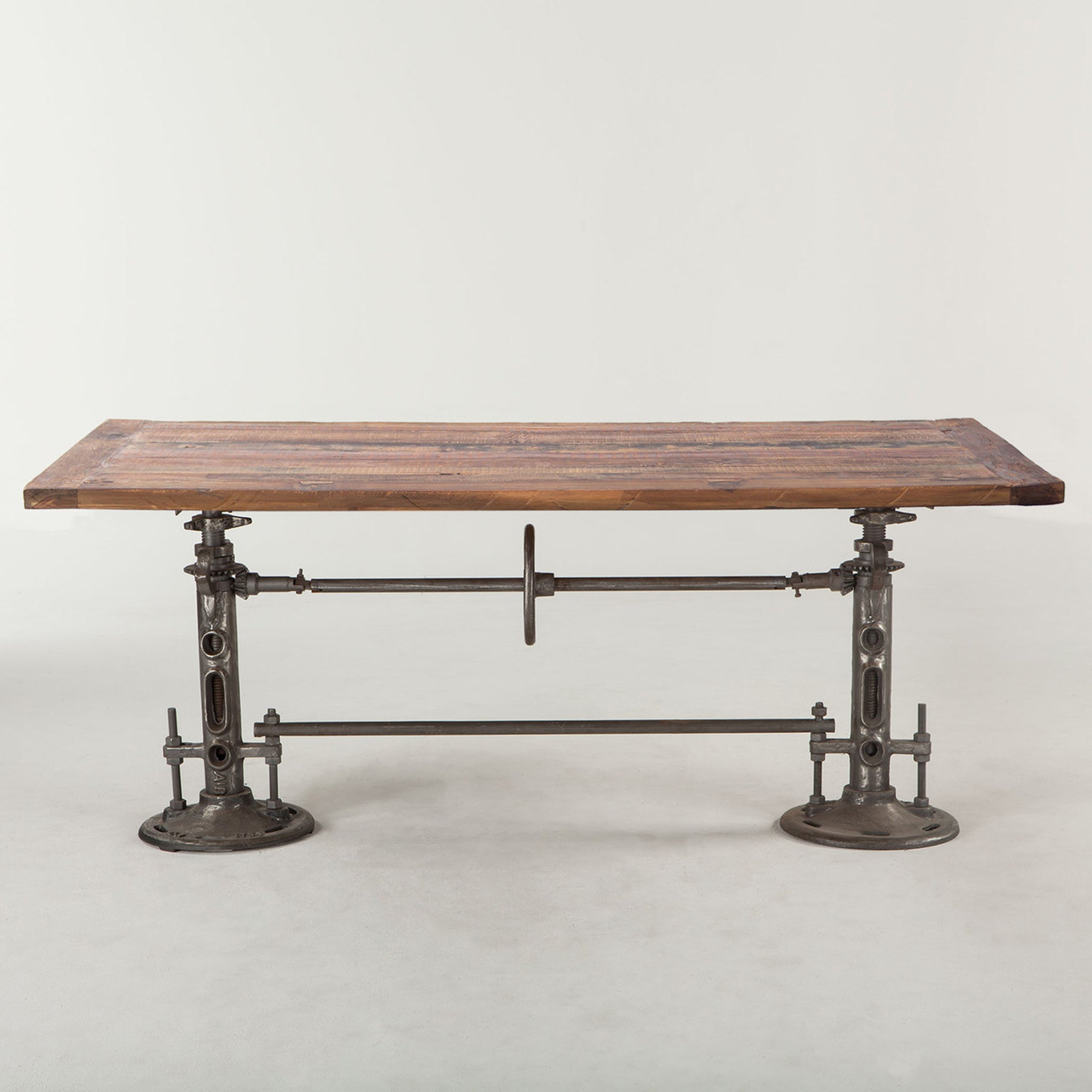 Industrial Loft Wood Dining Table 82""
