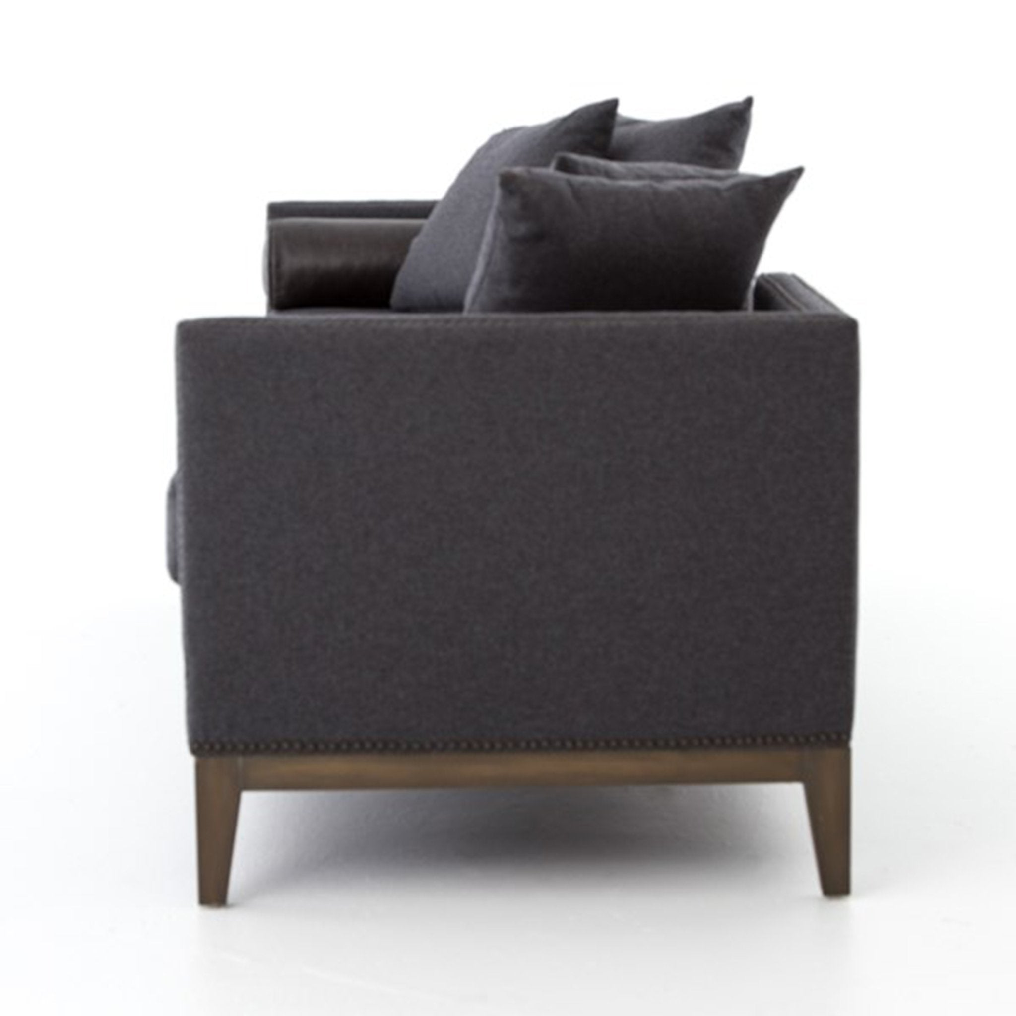 Double Chaise-Charcoal Felt Daybed - Furniture on Main