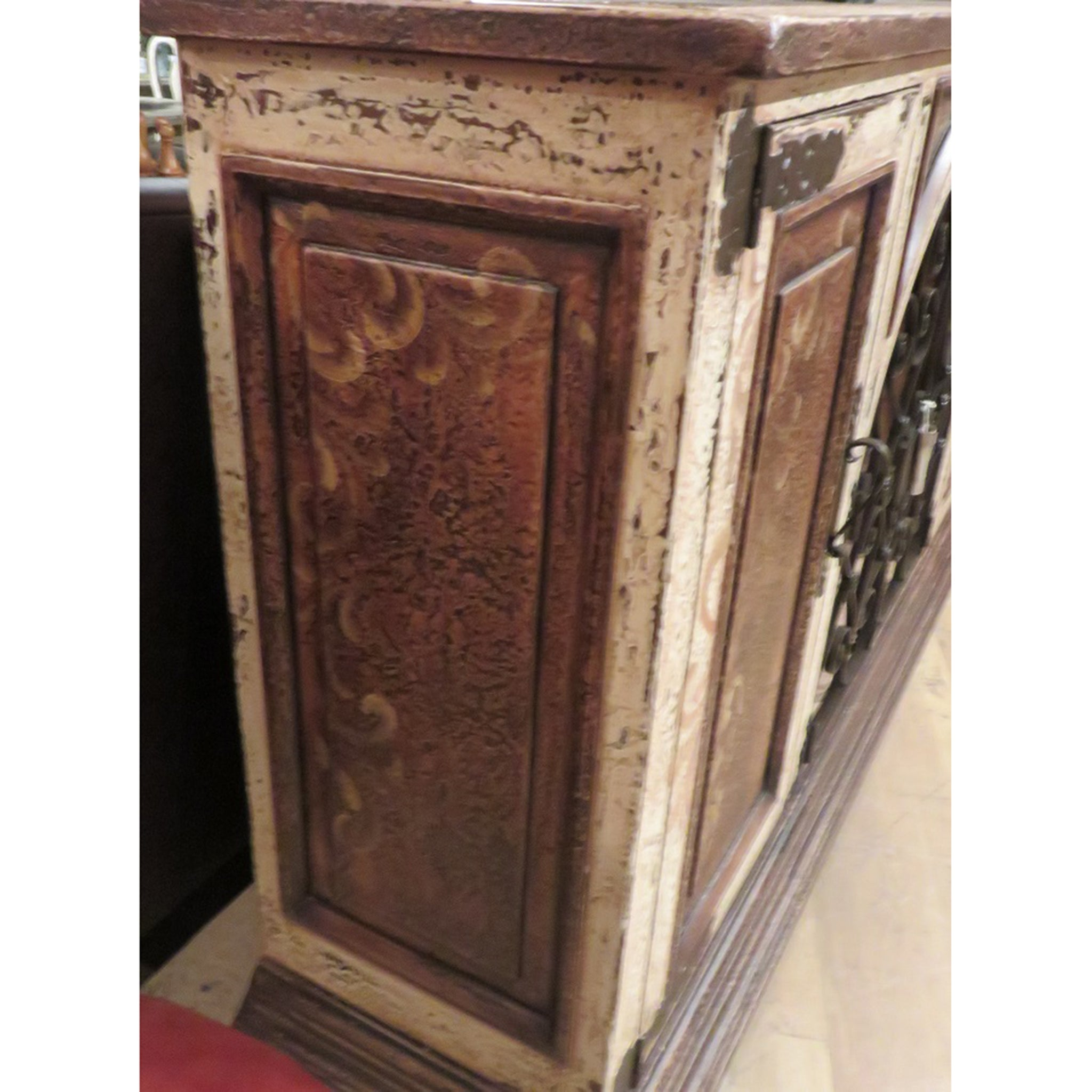 Olde World Rustic  Iron Buffet or Wine Sideboard