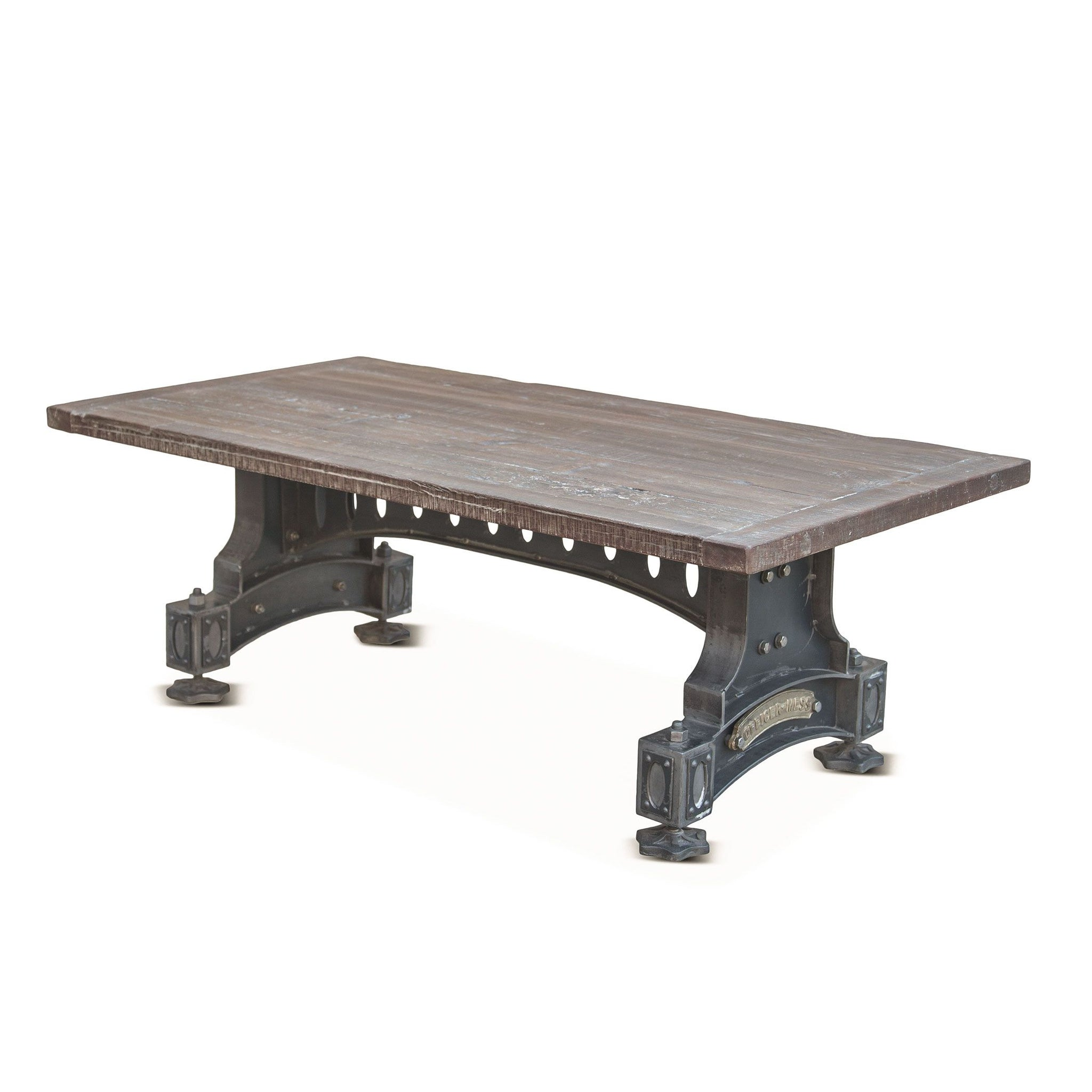 Industrial Teak Reclaimed Wood Coffee Table - Furniture on Main