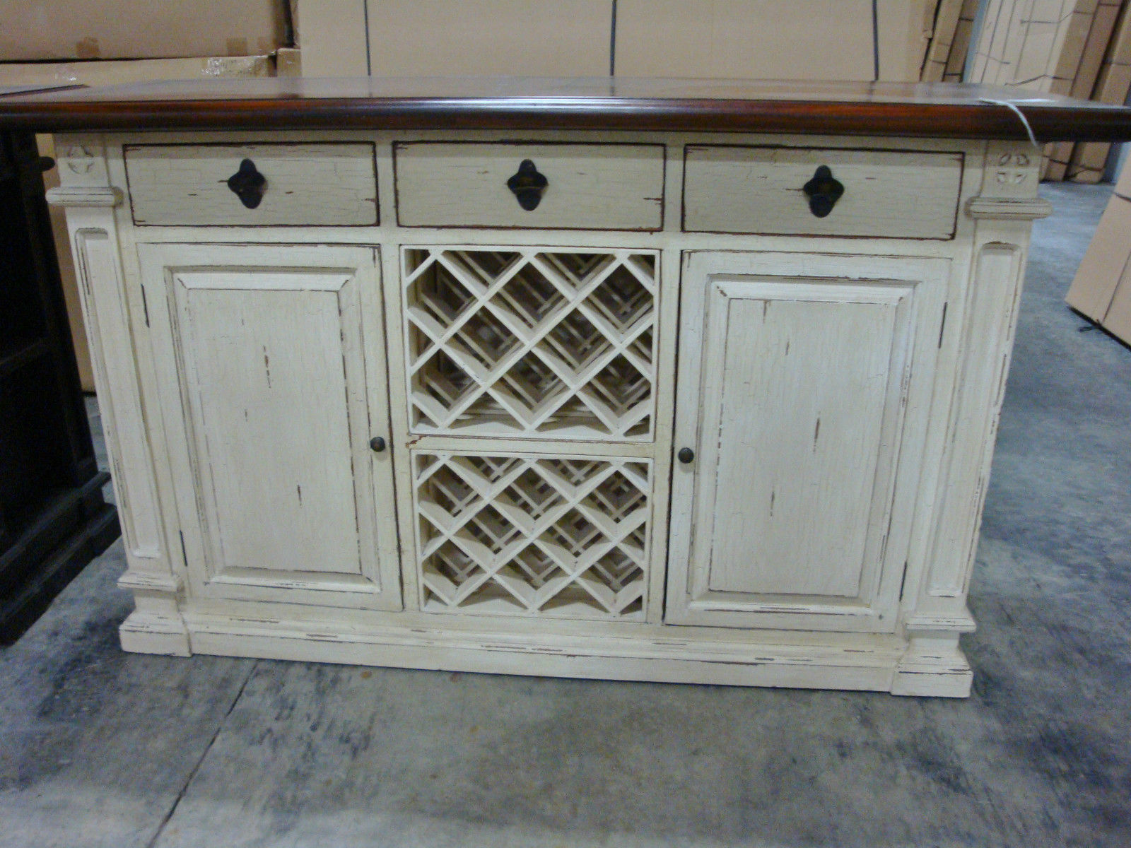 Free Standing Counter Bar with Wine Storage - Furniture on Main