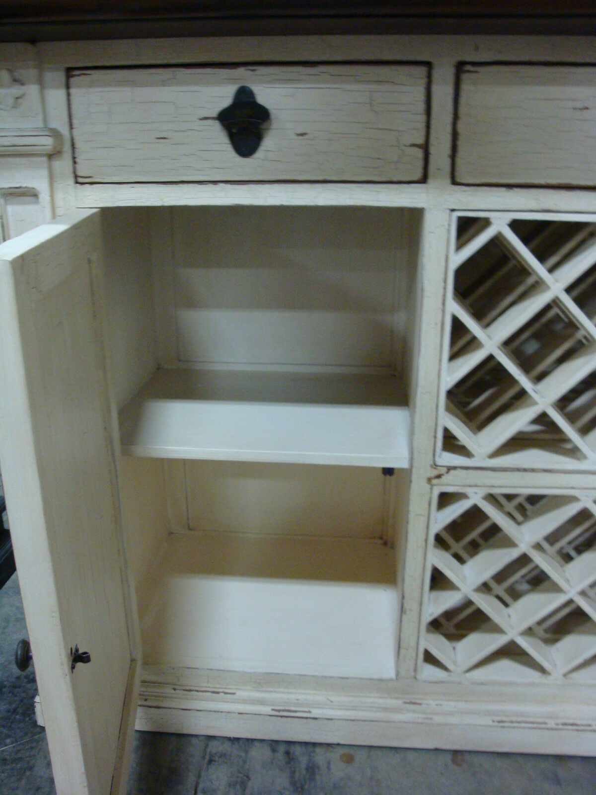 Free Standing Counter Bar with Wine Storage