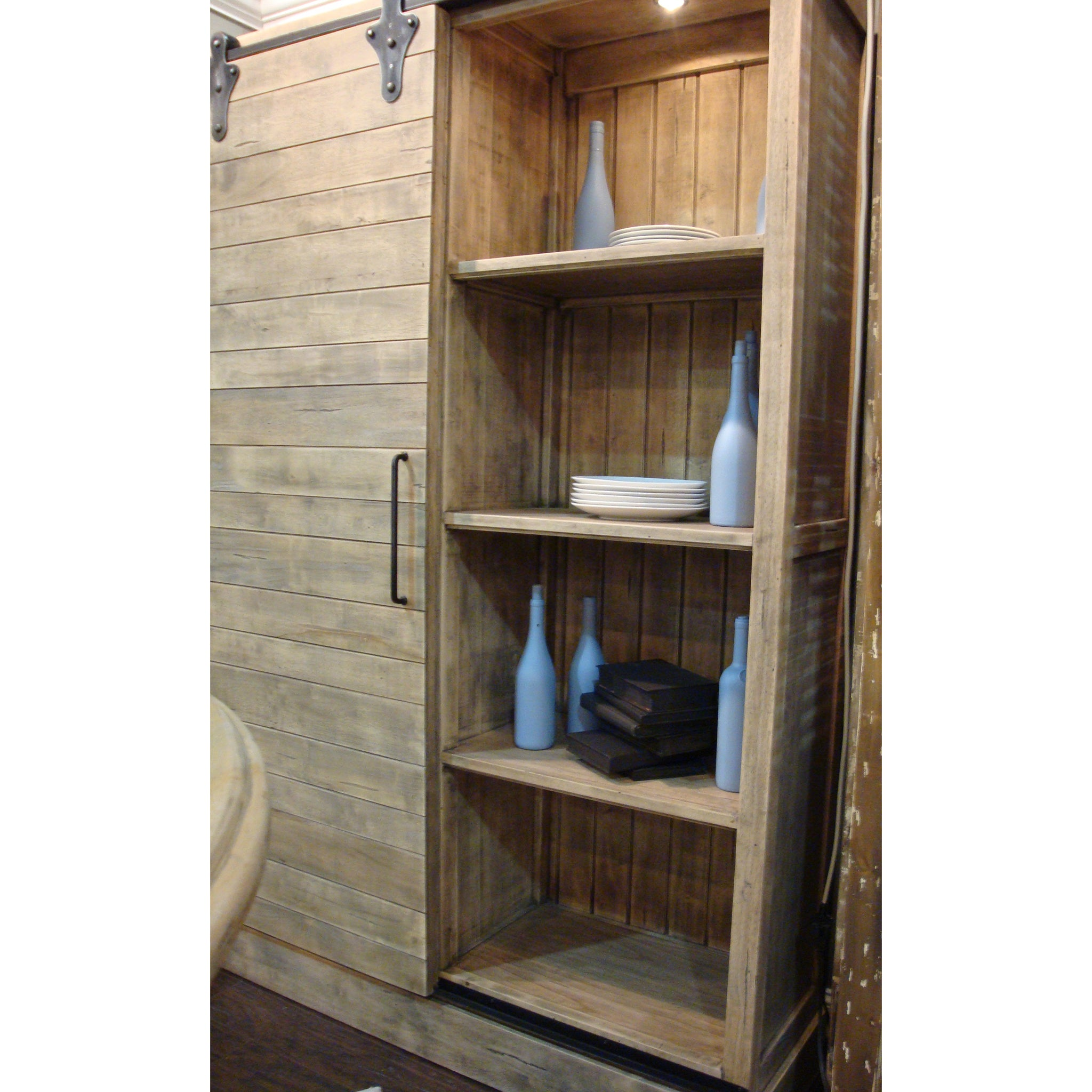 Sliding Barn Door Multi Use Cabinet Driftwood