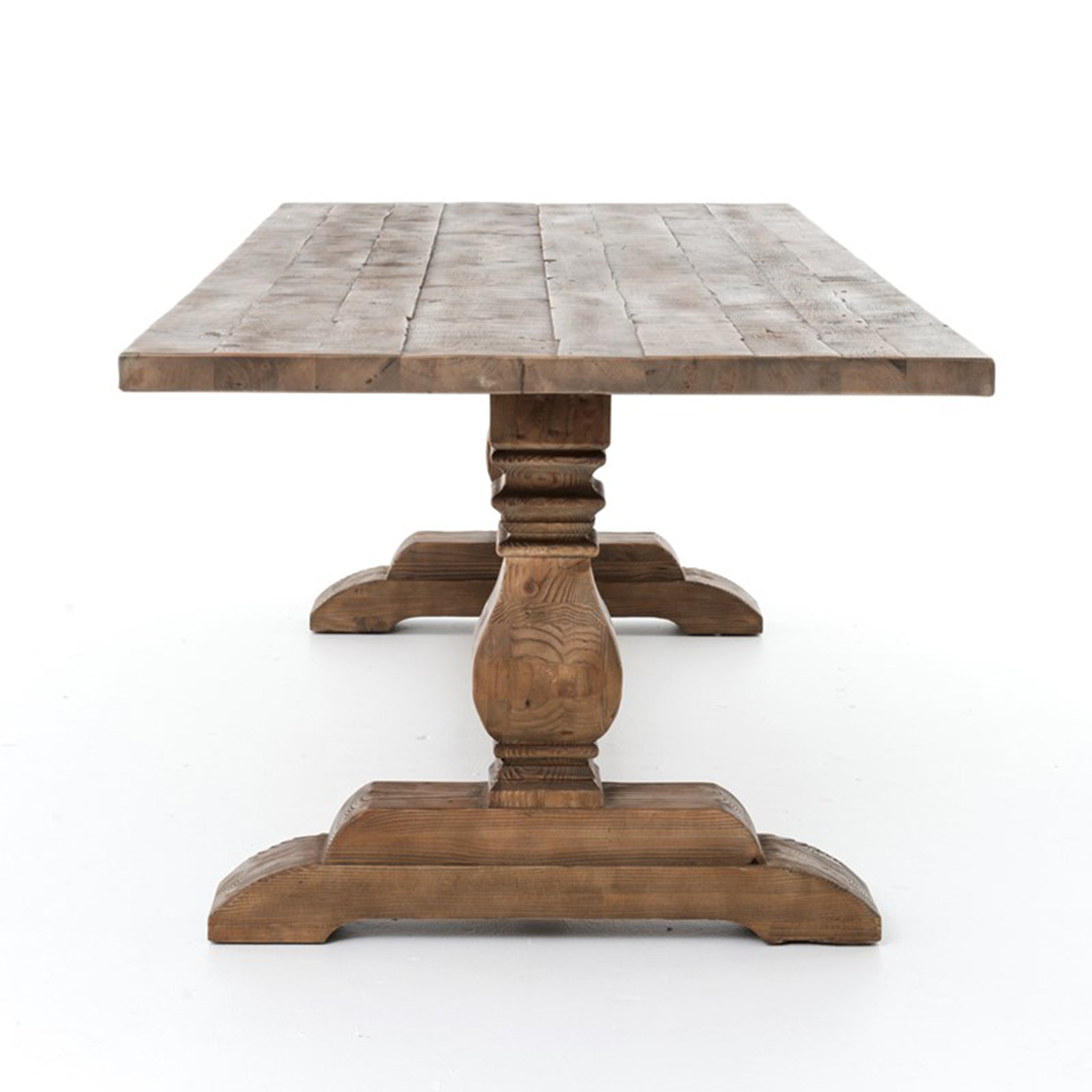 Trestle Leg Reclaimed Rectangular Dining Table - Furniture on Main